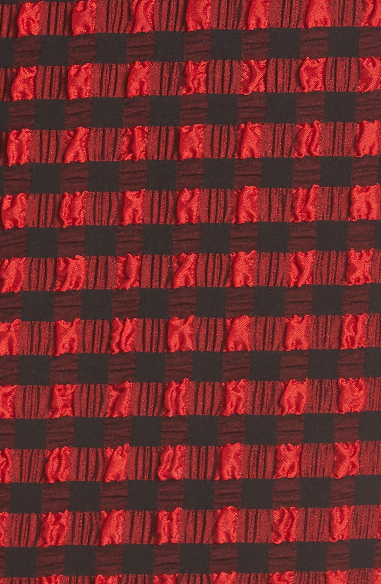 Alternate Image 5  - Rachel Comey Pout Gingham One-Shoulder Midi Dress