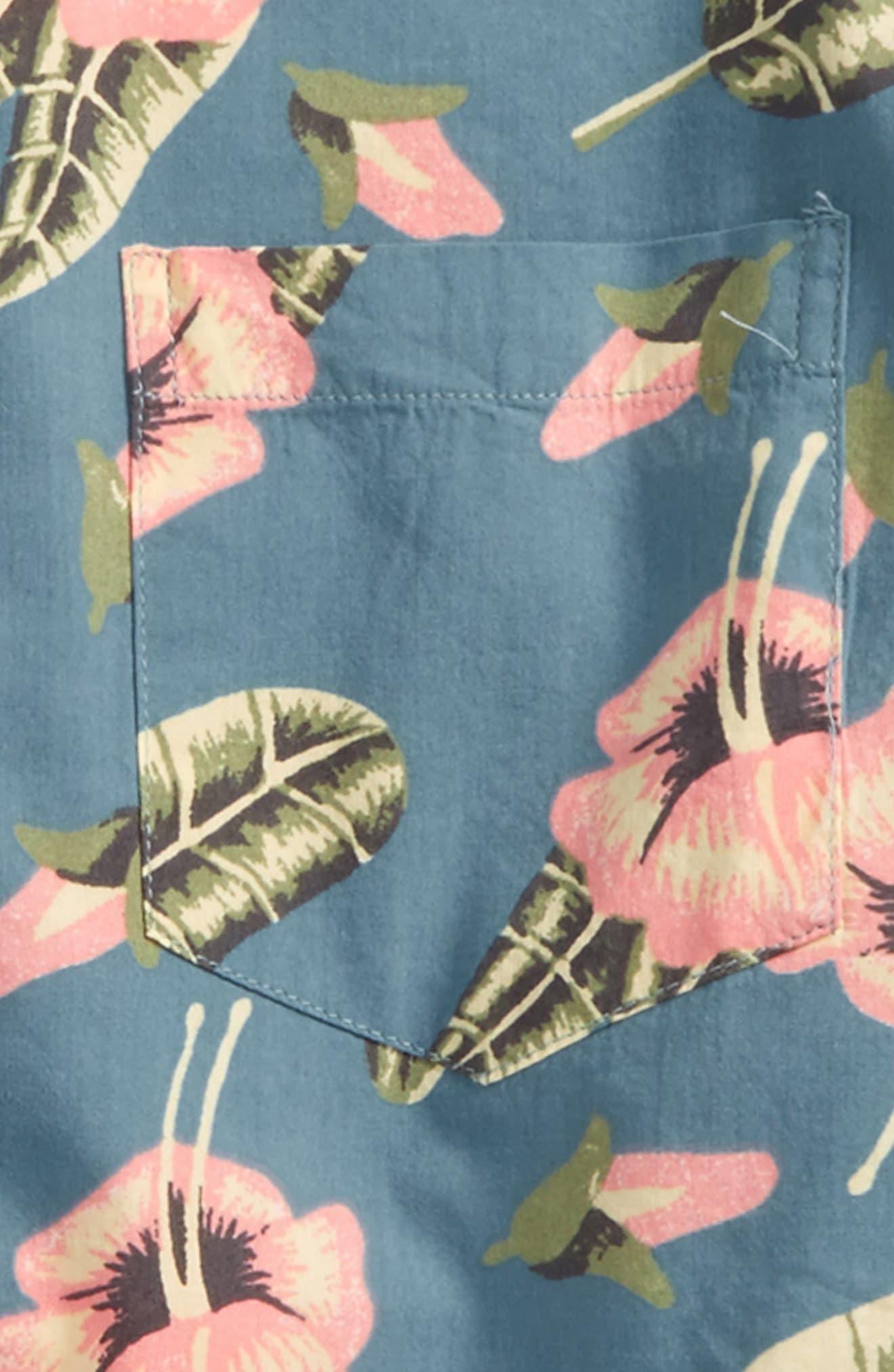 Pelletier Tropic Short Sleeve Camp Shirt,                             Alternate thumbnail 2, color,                             Blue