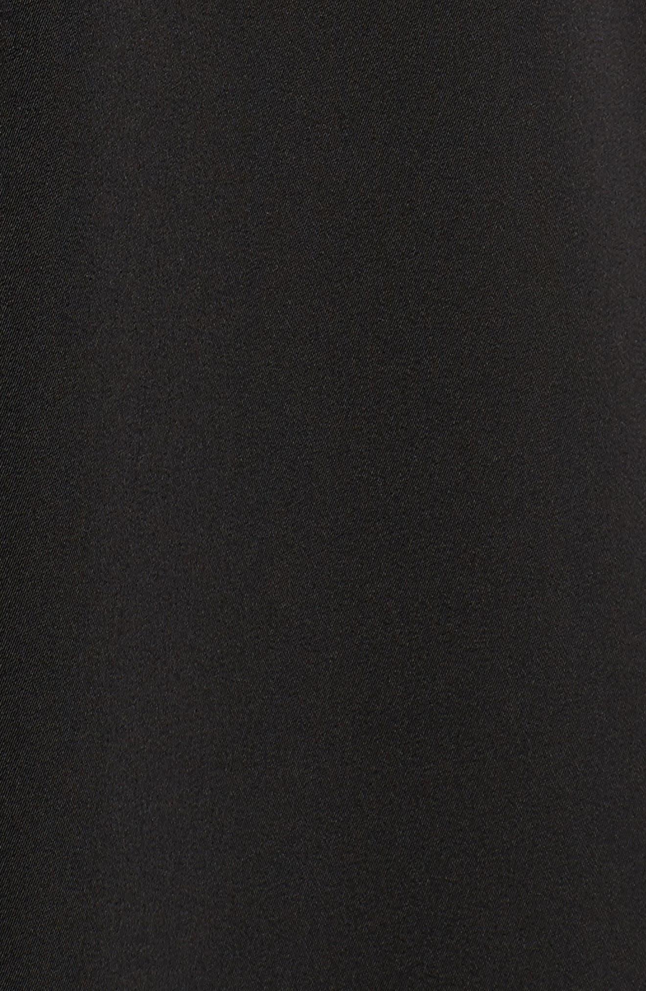 Rhea Floral Appliqué A-Line Dress,                             Alternate thumbnail 5, color,                             Black Multi