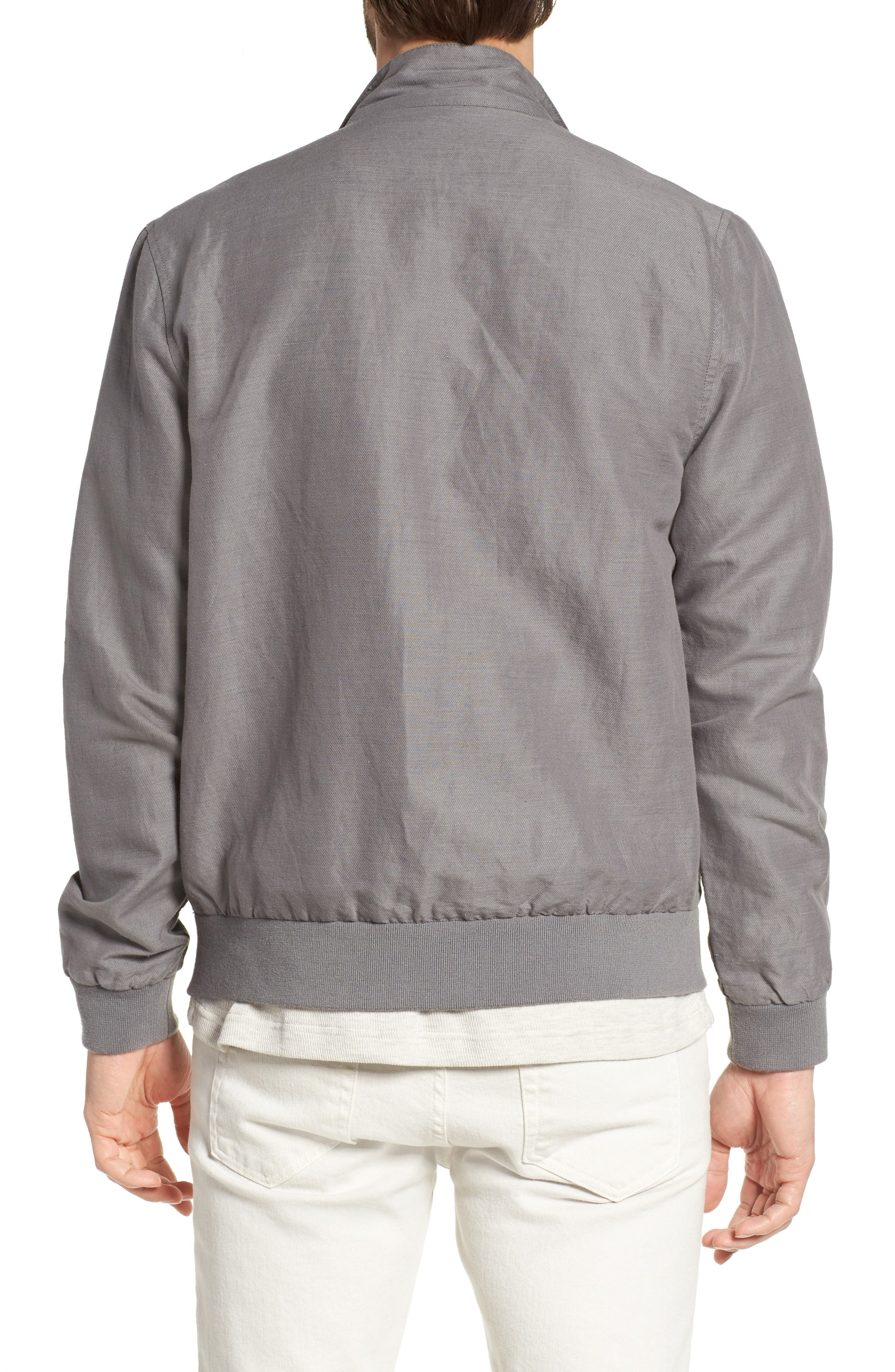 Harrington Linen & Cotton Jacket,                             Alternate thumbnail 2, color,                             Shade
