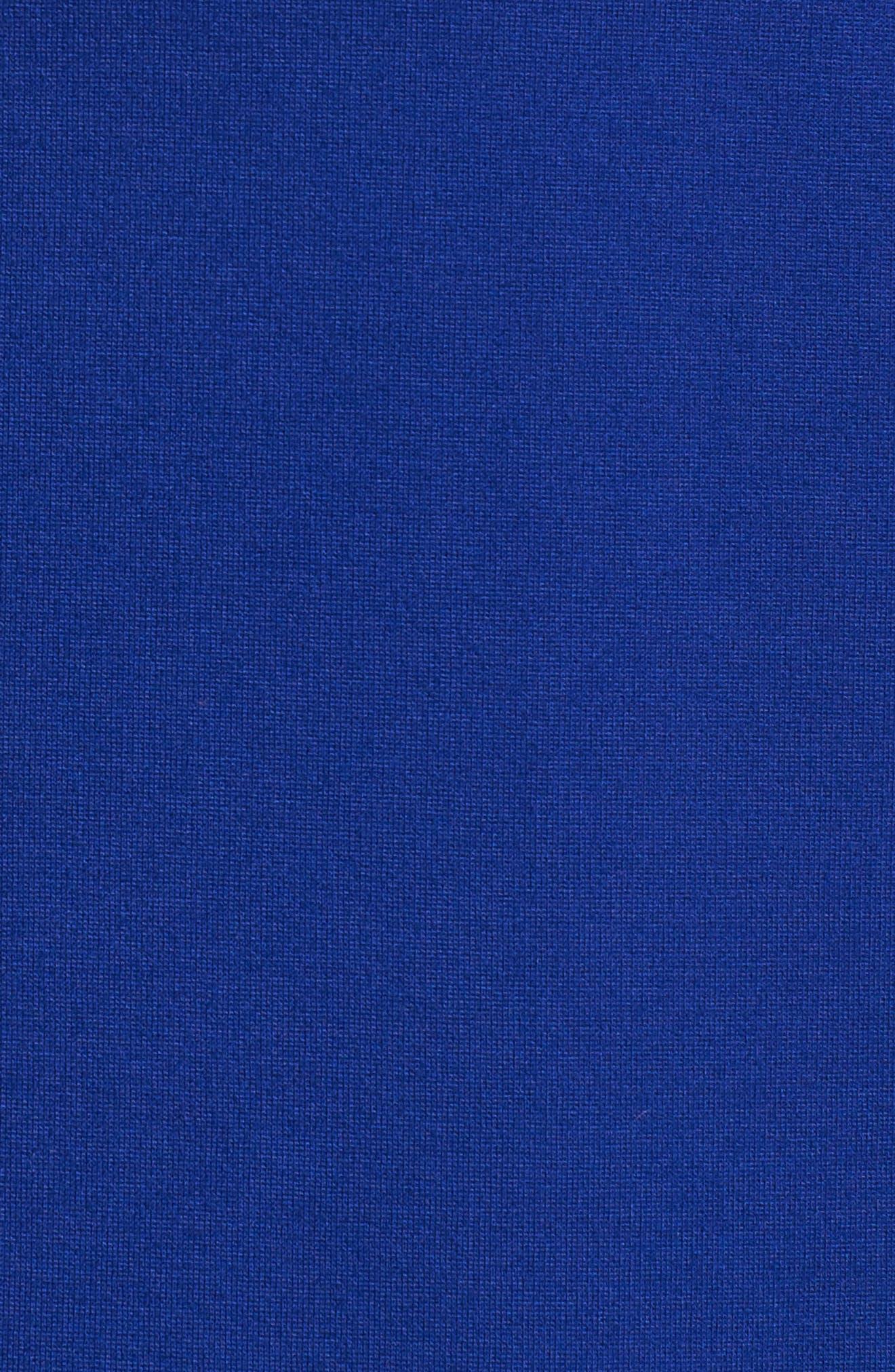 Nessa Ponte Midi Dress,                             Alternate thumbnail 5, color,                             Cobalt