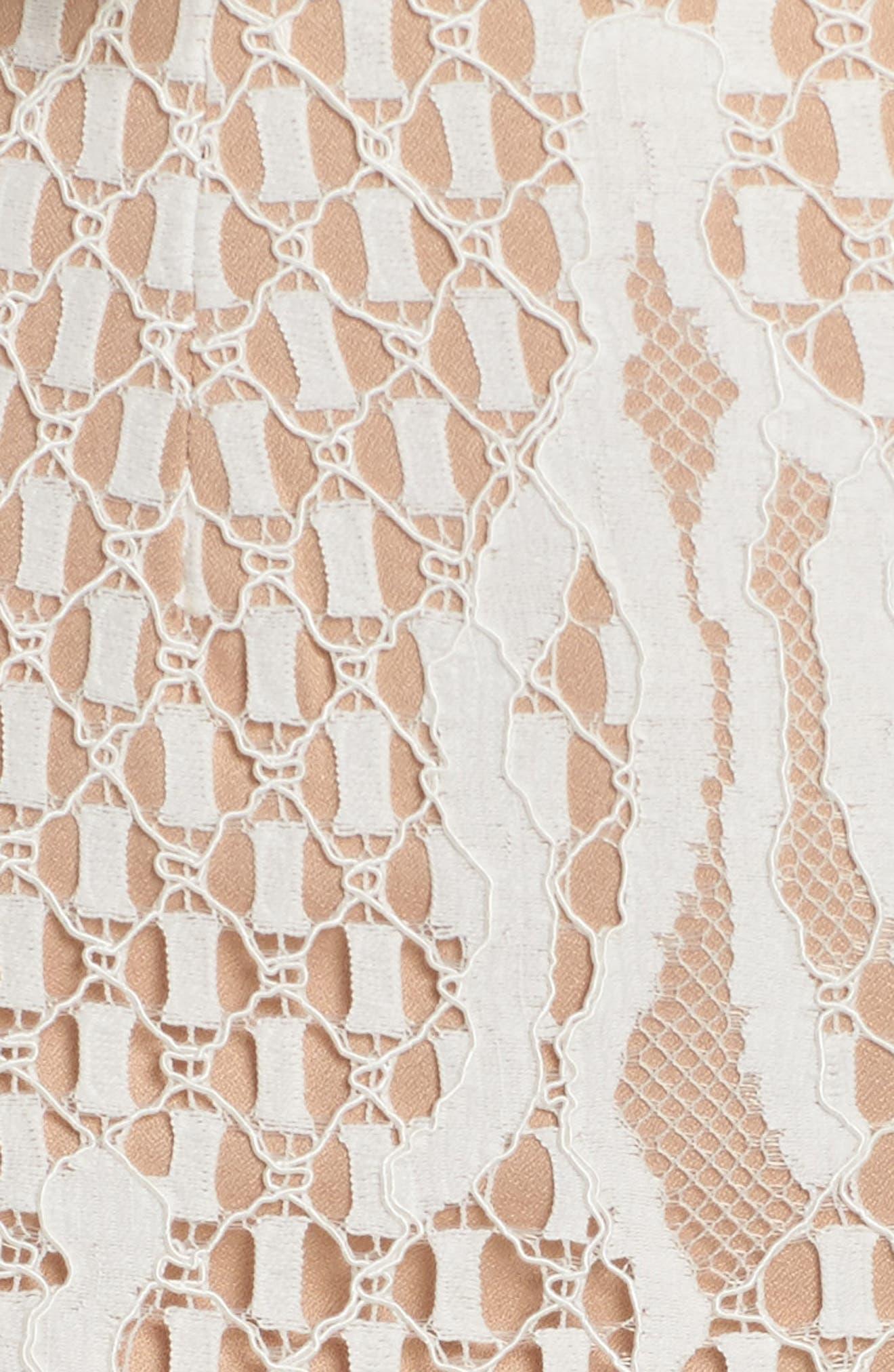 Davilea Off the Shoulder Lace Gown,                             Alternate thumbnail 5, color,                             Ivory