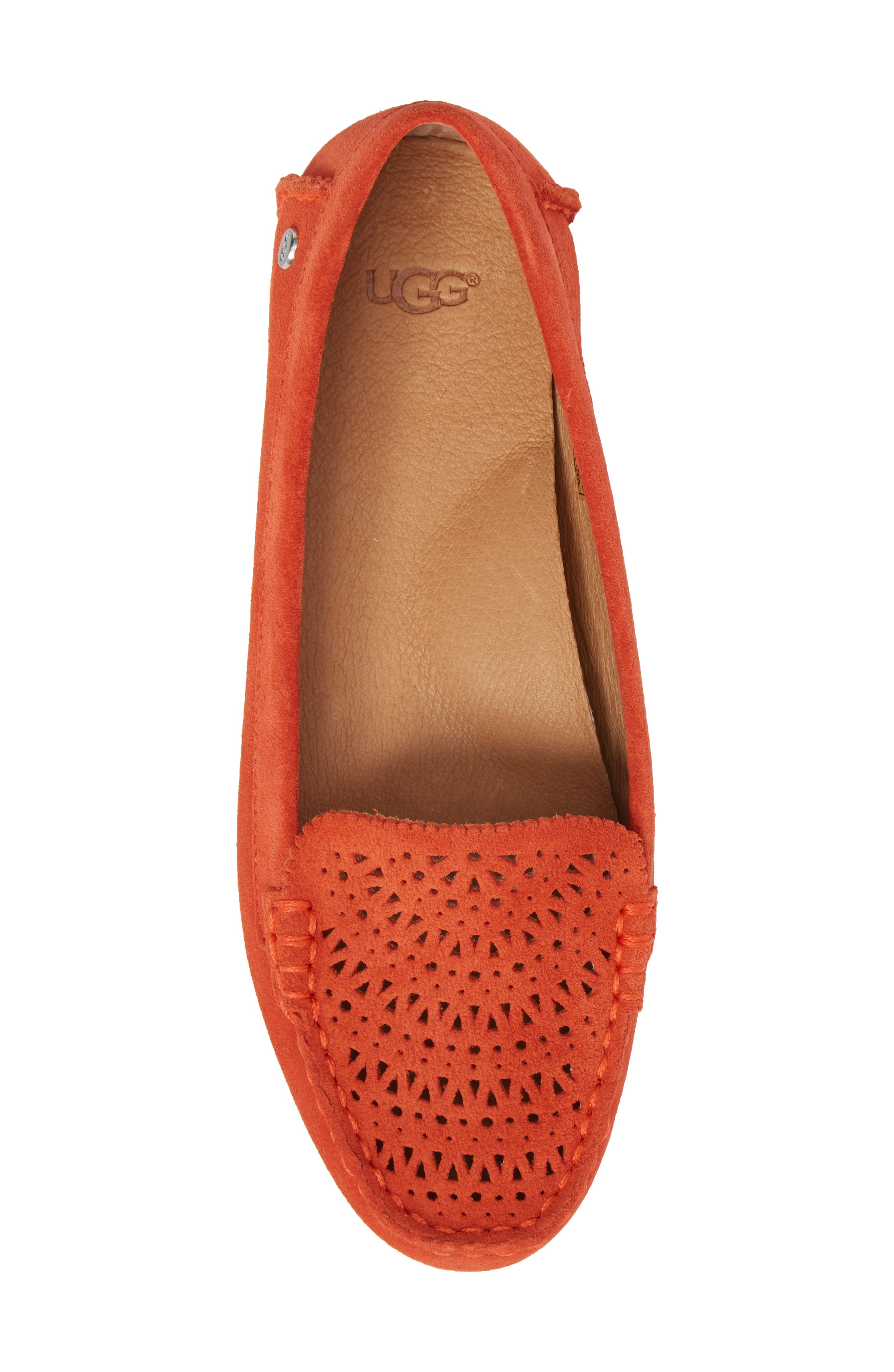 Clair Flat,                             Alternate thumbnail 4, color,                             Red Orange Suede