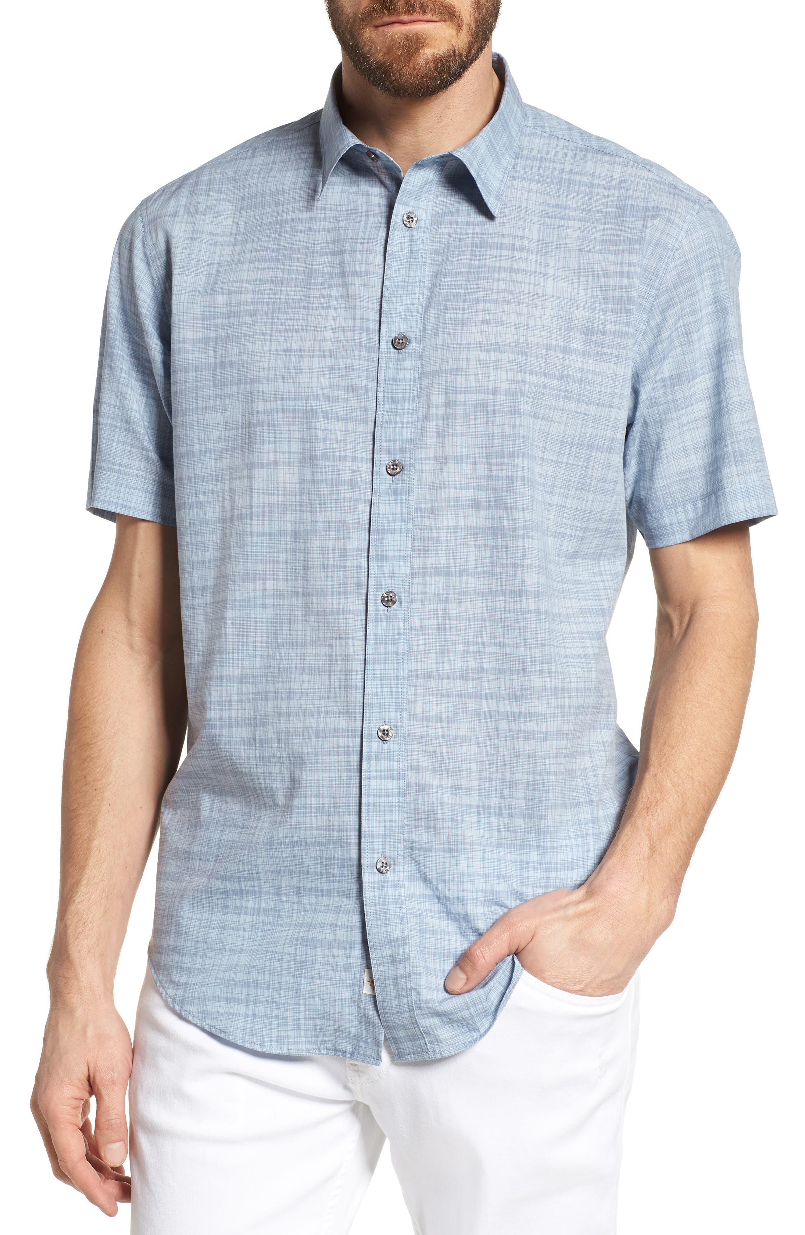 Coastaoro Joya Regular Fit Plaid Short Sleeve Sport Shirt