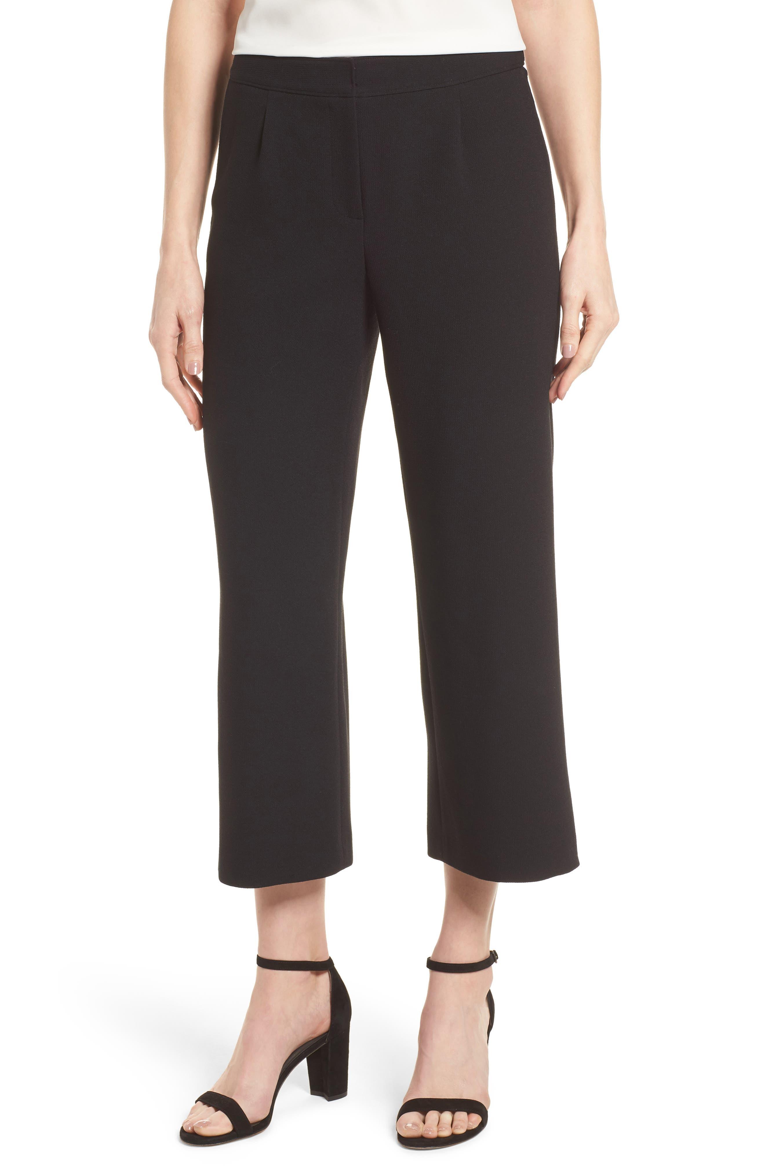 Crop Pants,                             Main thumbnail 1, color,                             Black