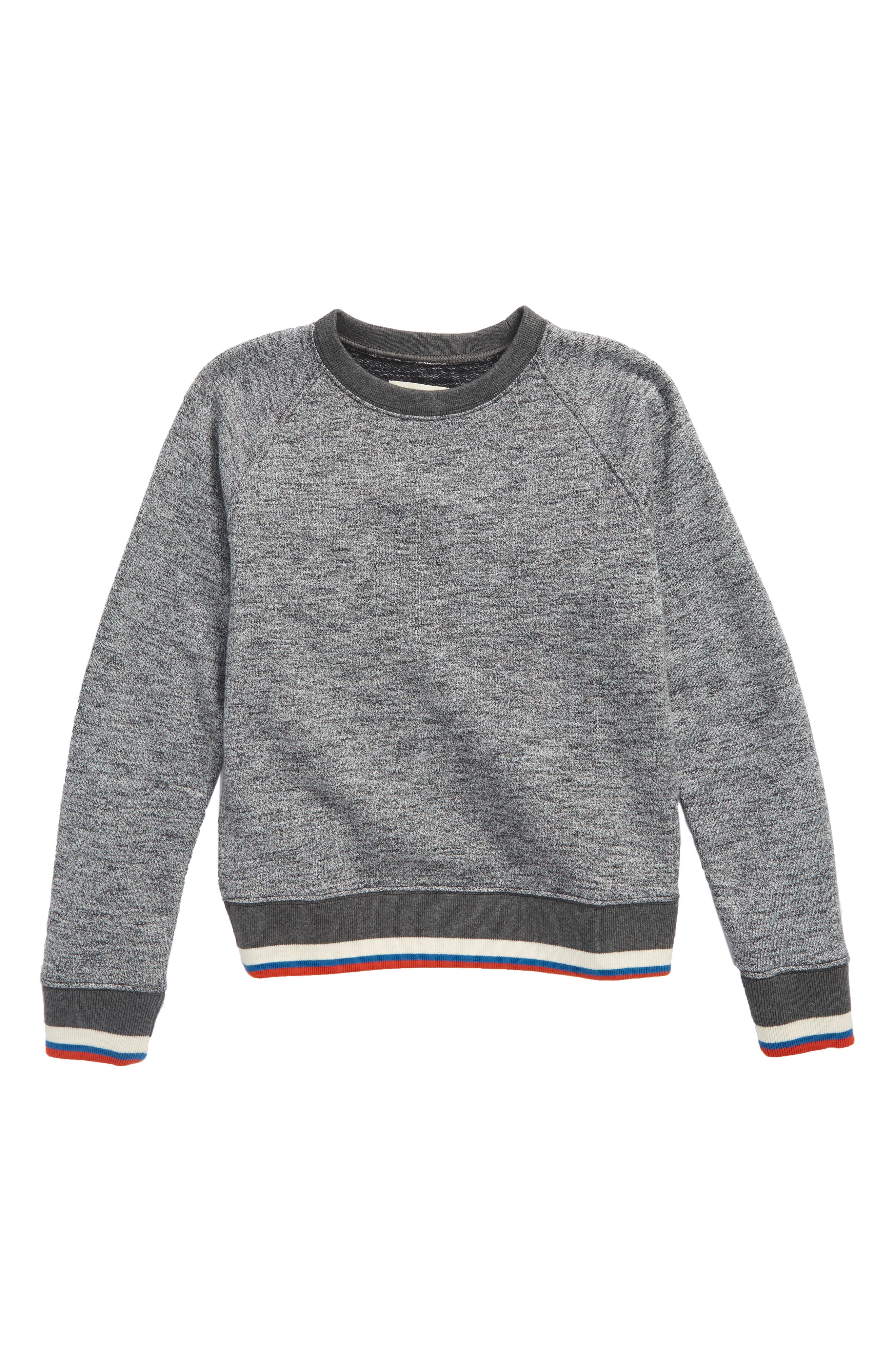 Tucker + Tate Stripe Crewneck Sweatshirt (Big Boys)