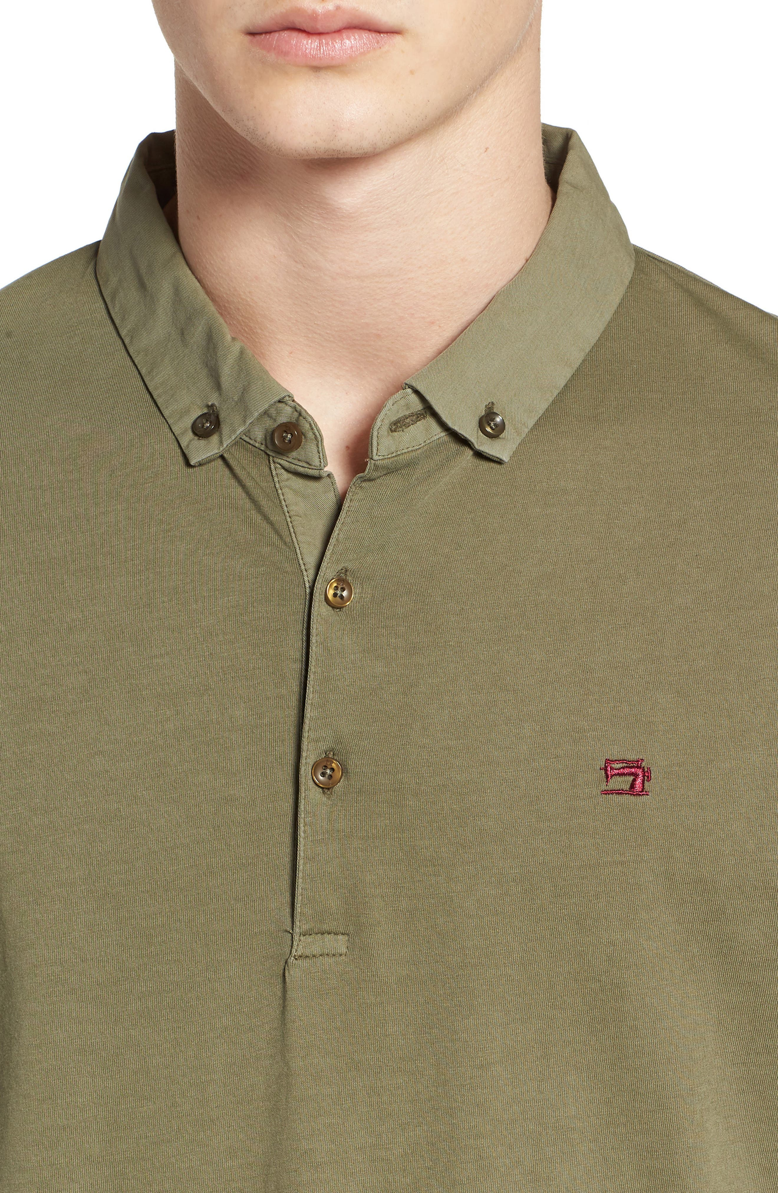 Classic Jersey Polo,                             Alternate thumbnail 4, color,                             Army