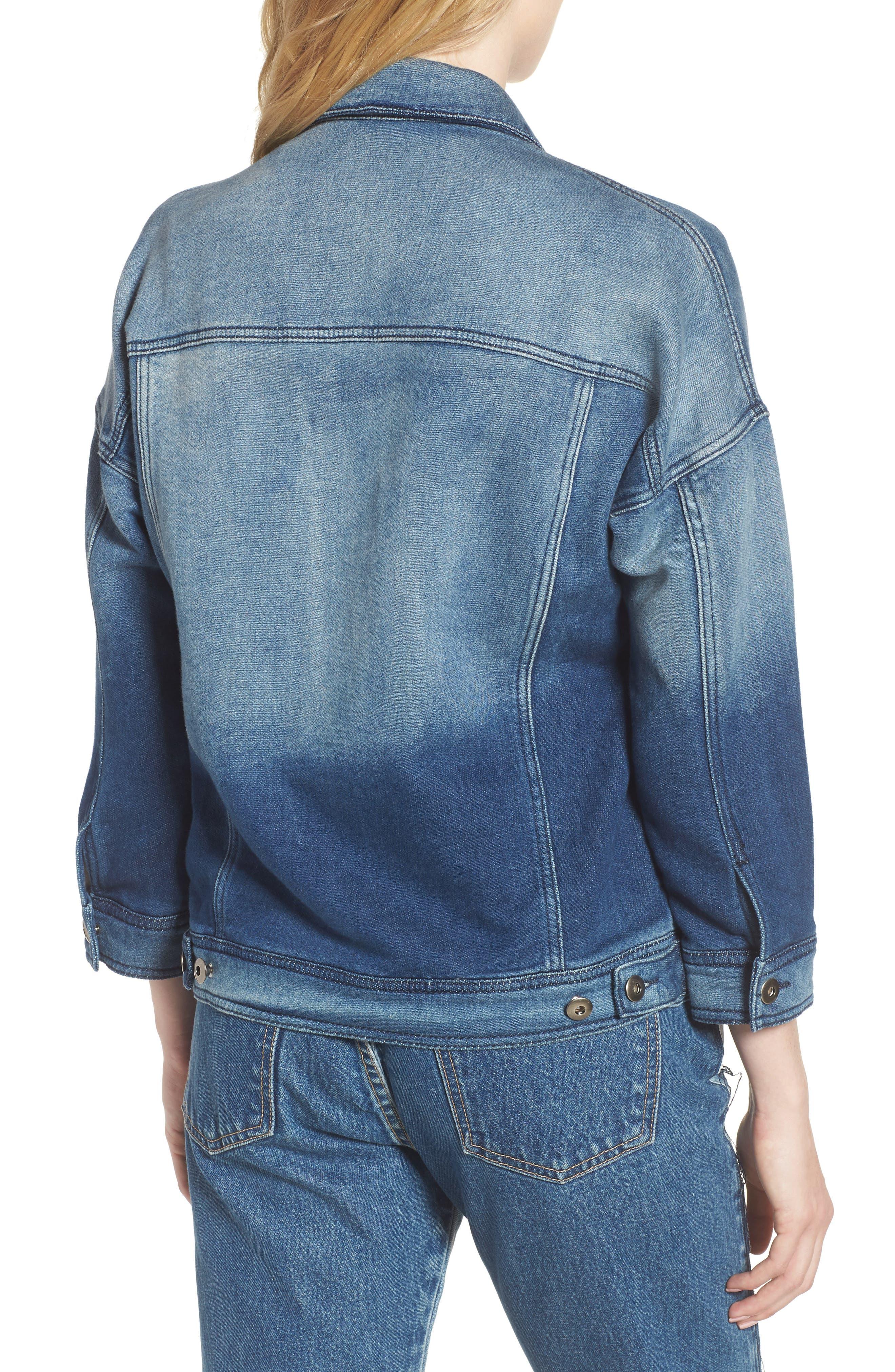 Denim Jacket,                             Alternate thumbnail 2, color,                             Washed Blue