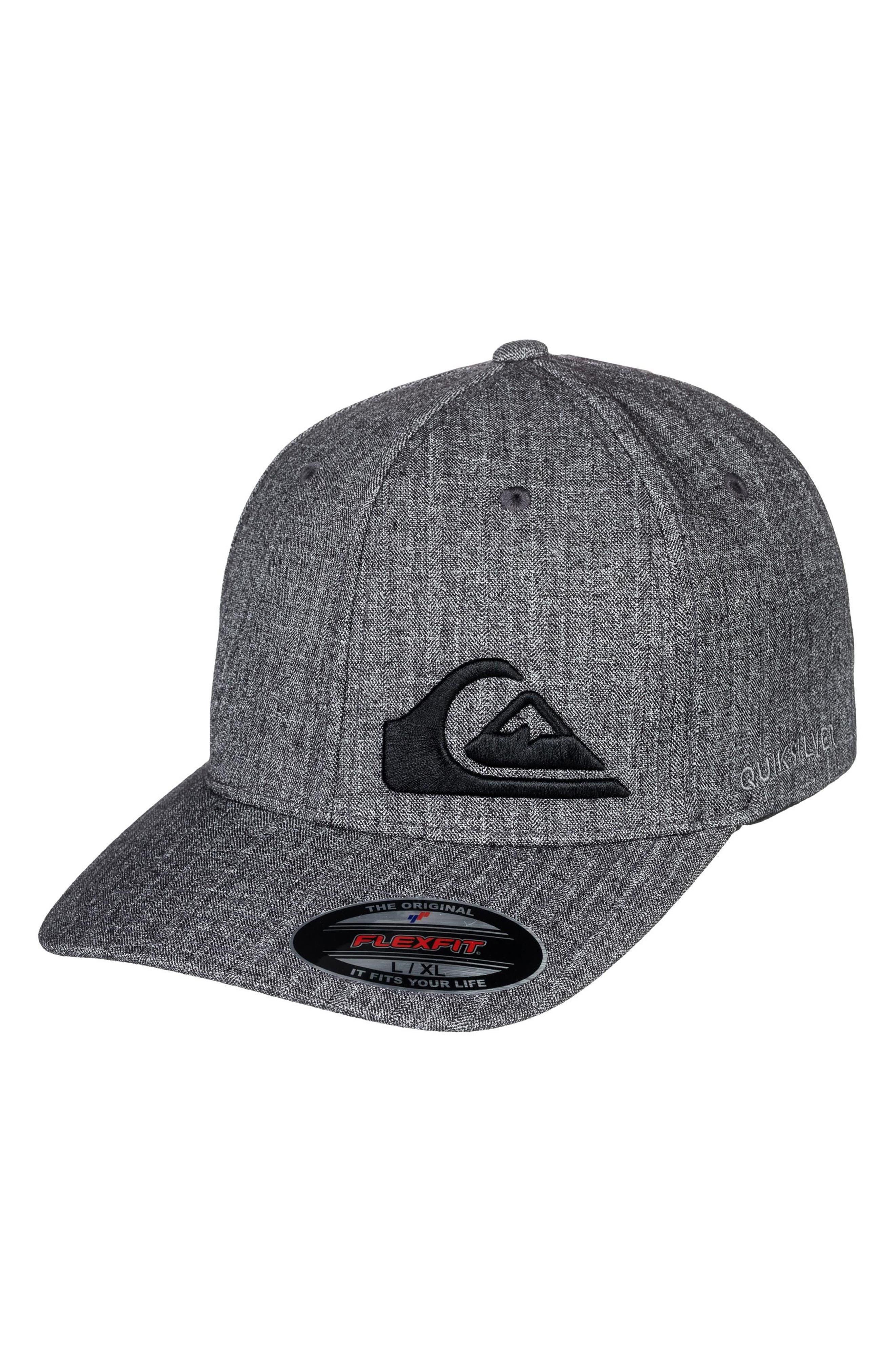 Final Flexfit Ball Cap,                         Main,                         color, Dark Charcoal Heather