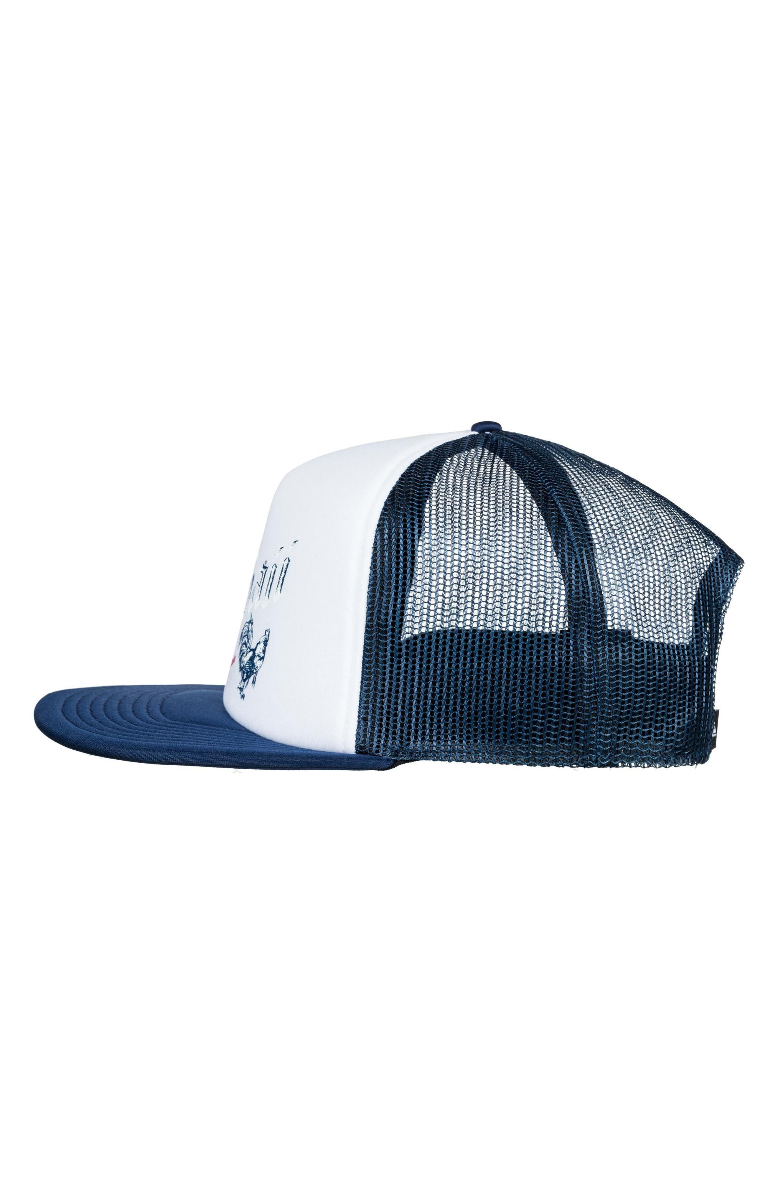 Rooster Graphic Trucker Hat,                             Alternate thumbnail 3, color,                             White