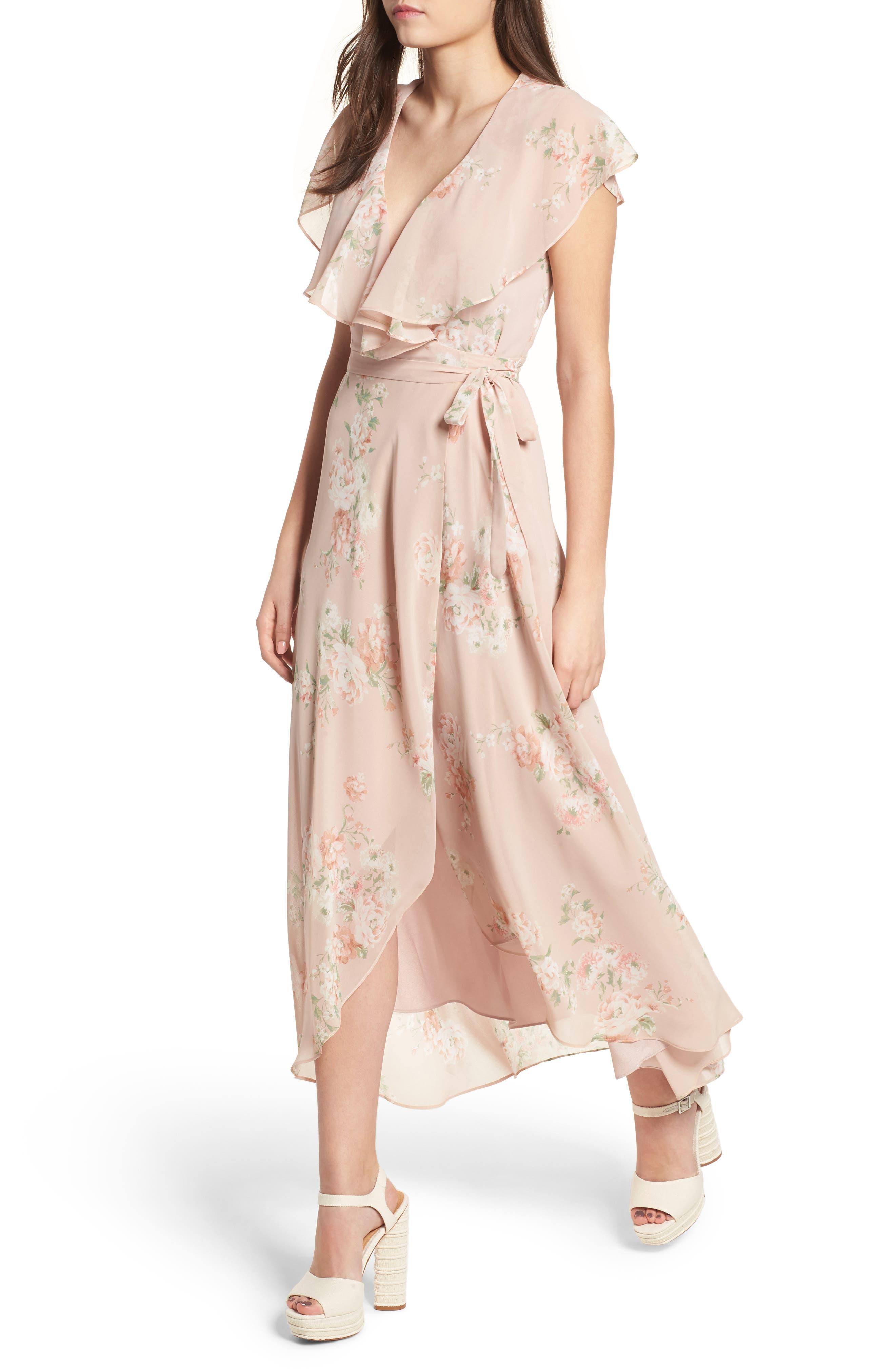 WAYF Polermo Wrap Maxi Dress