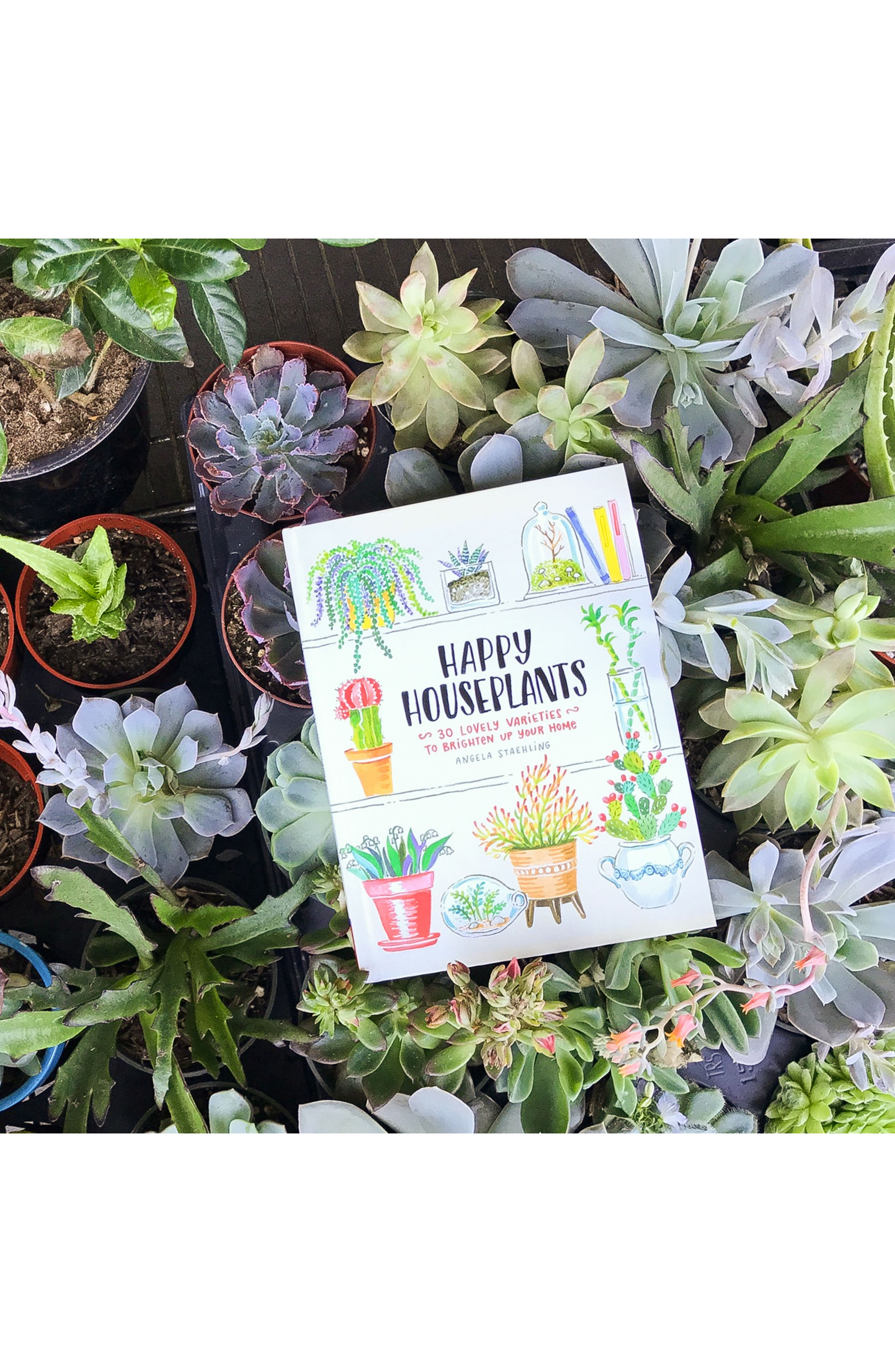 'Happy Houseplants: 30 Lovely Varieties to Brighten Up Your Home' Book,                             Alternate thumbnail 5, color,                             Green