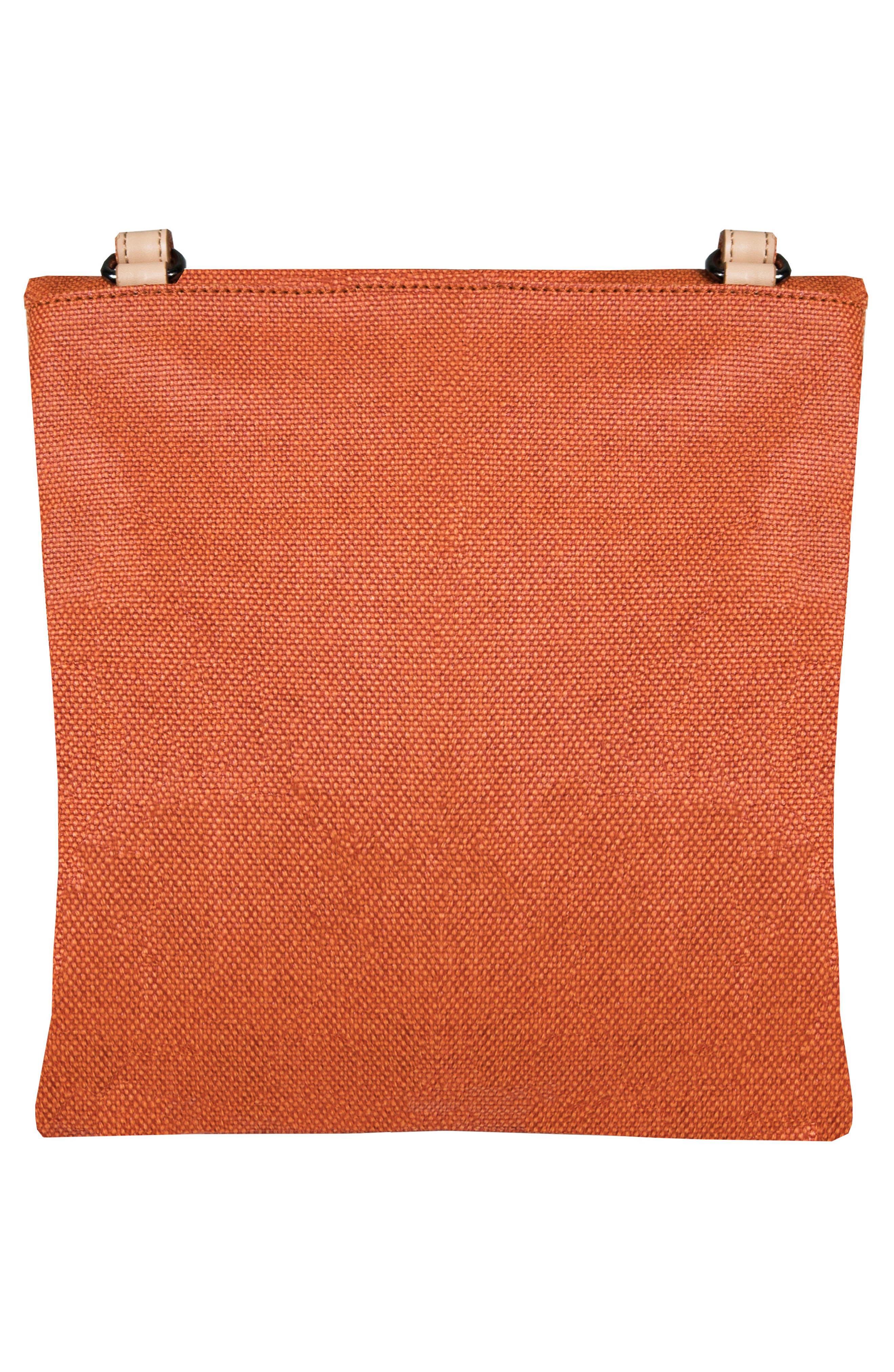 Rebel Coated Canvas Crossbody Bag,                             Alternate thumbnail 3, color,                             Copper