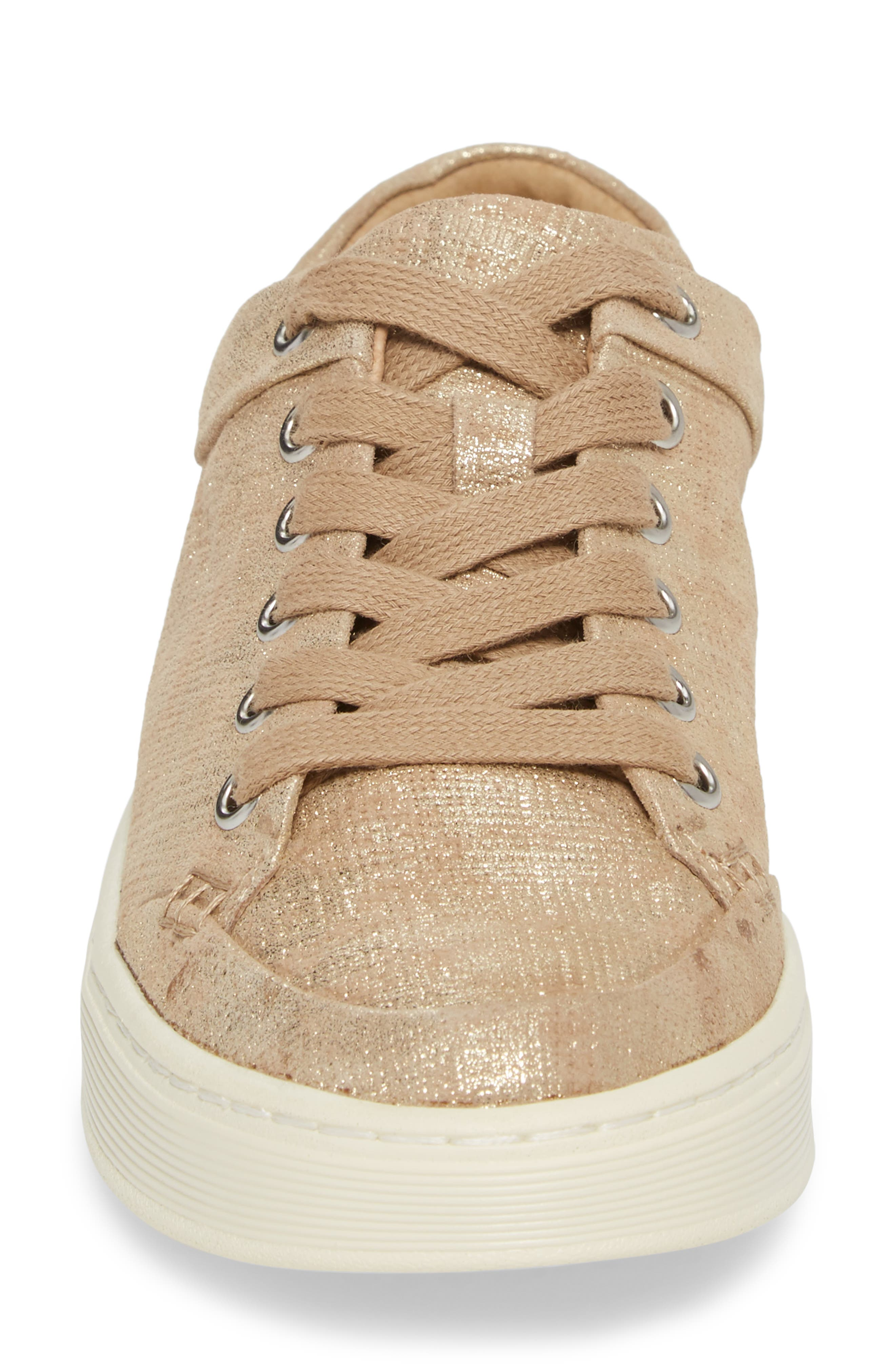 Sanders Sneaker,                             Alternate thumbnail 4, color,                             Platino Distressed Suede