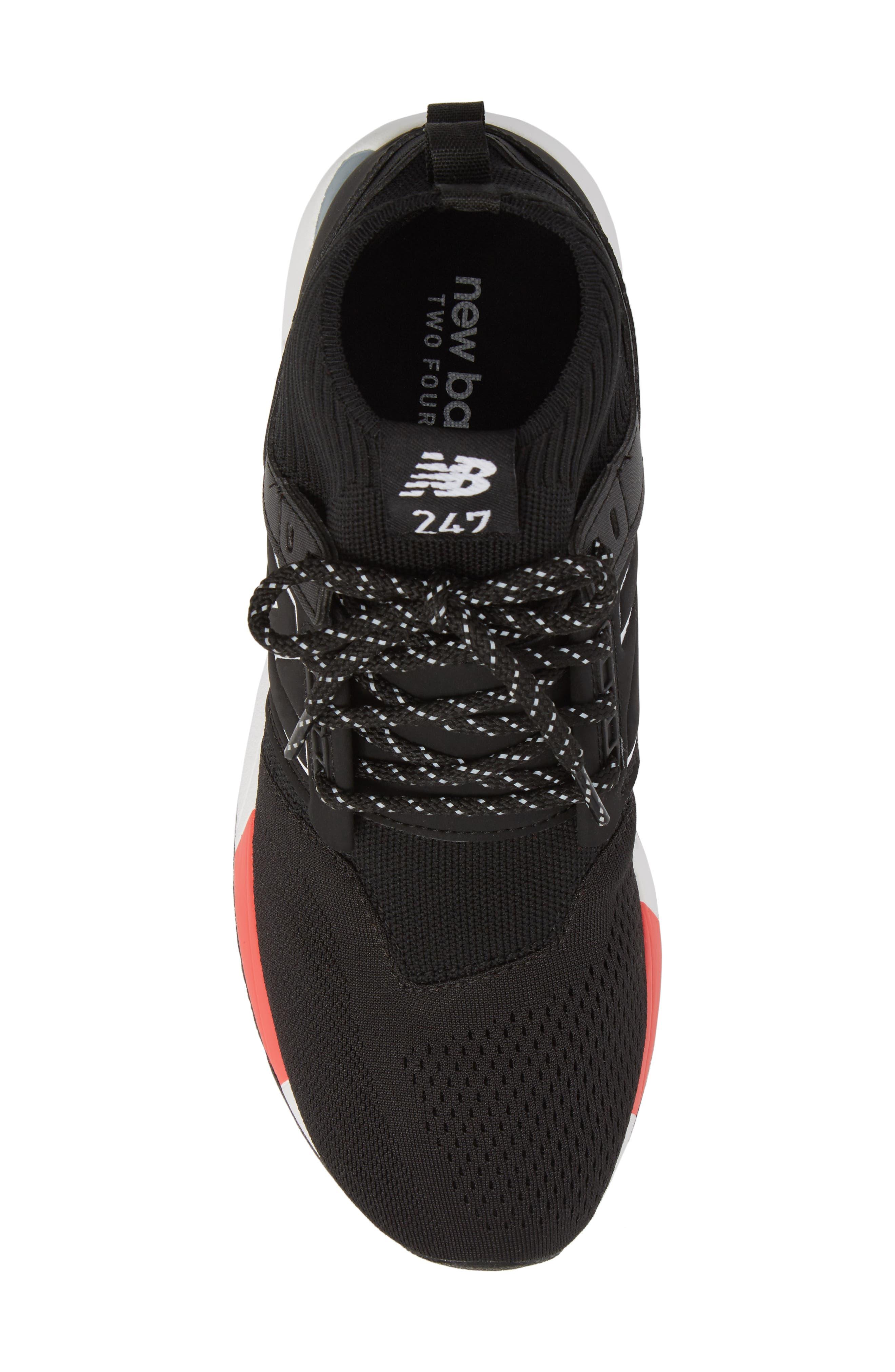 247 Mid Sneaker,                             Alternate thumbnail 5, color,                             Black