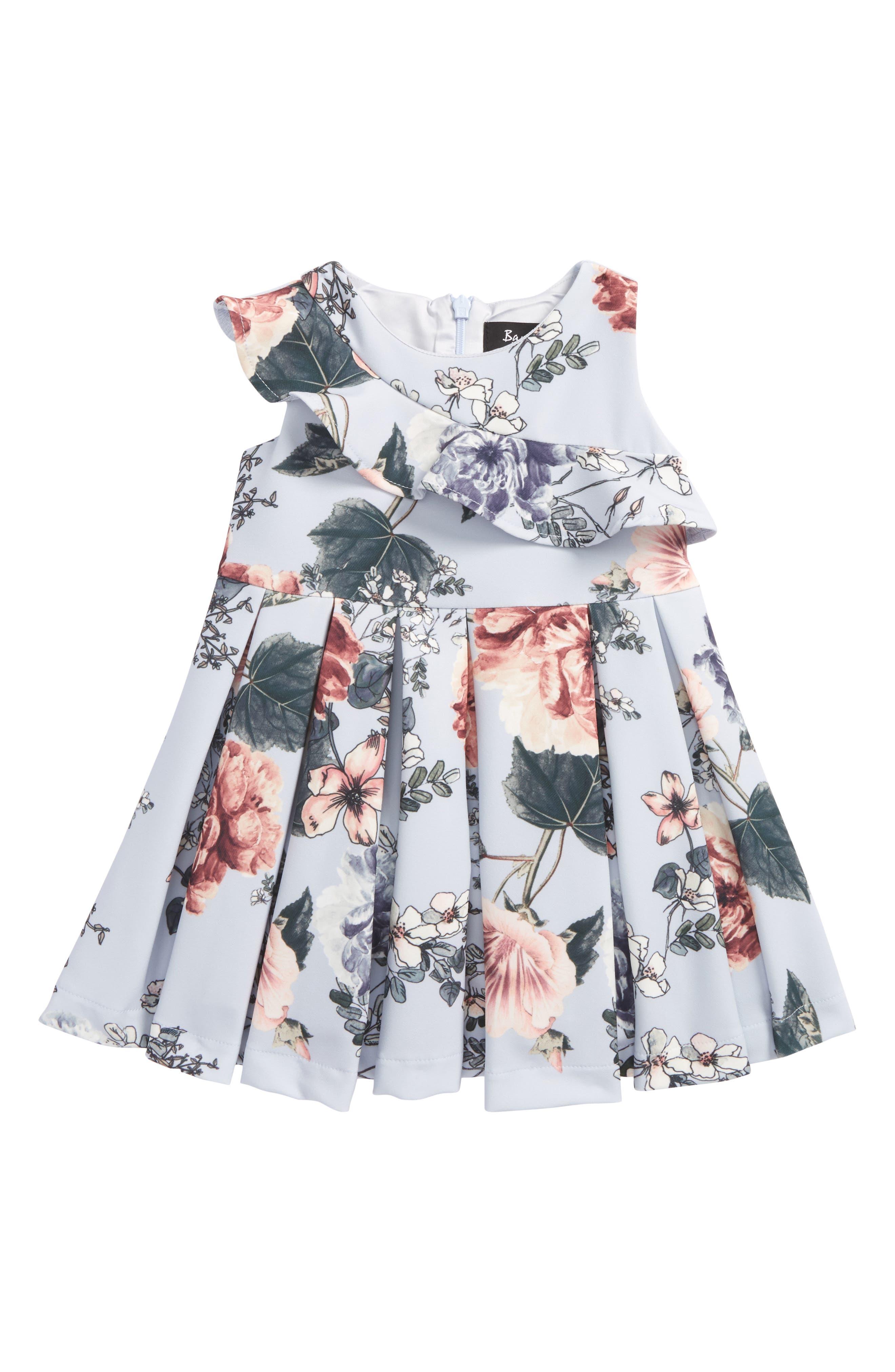 Ebony Floral Print Dress,                             Main thumbnail 1, color,                             Floral
