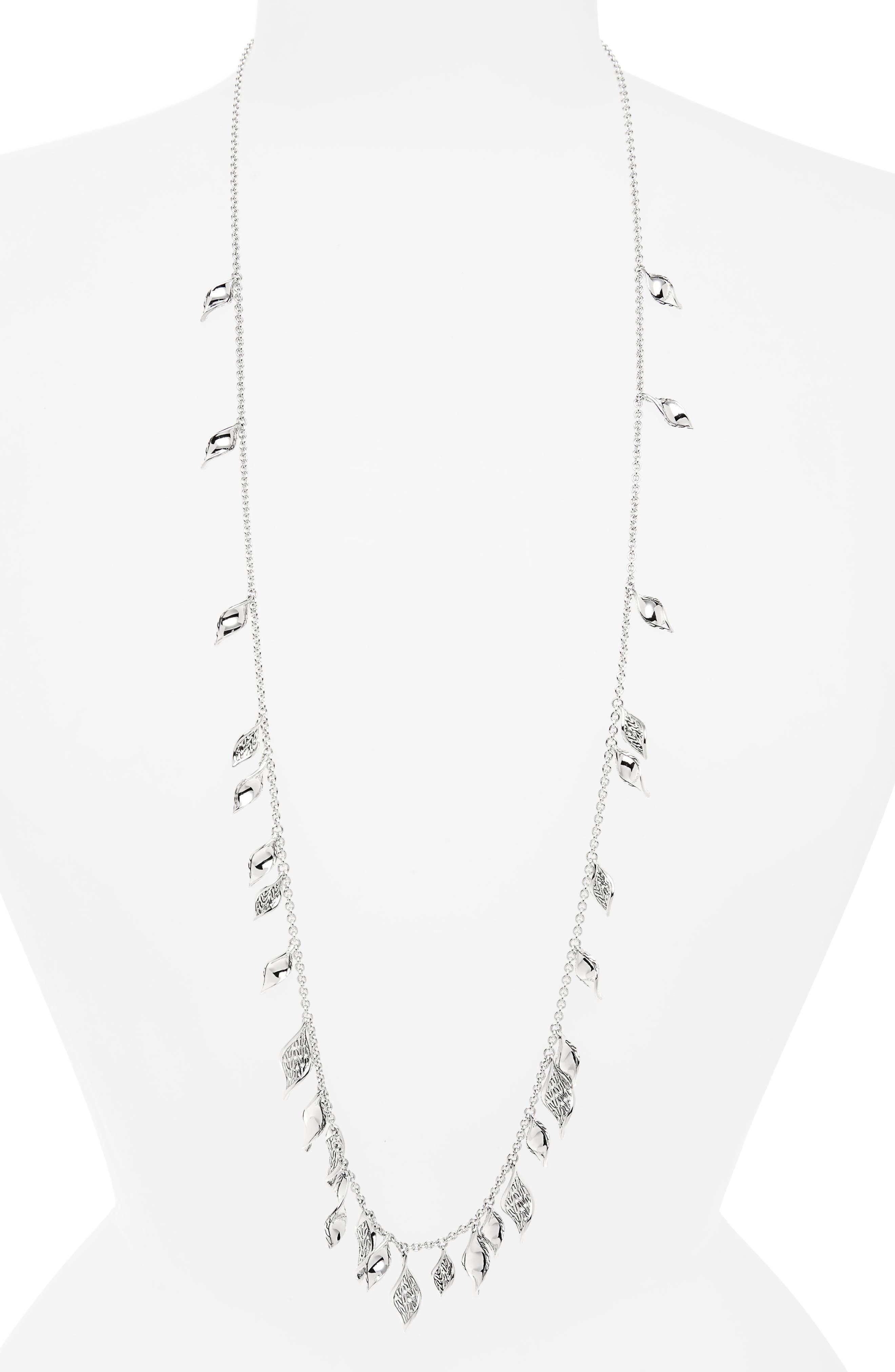 Classic Chain Silver Necklace,                         Main,                         color, Silver