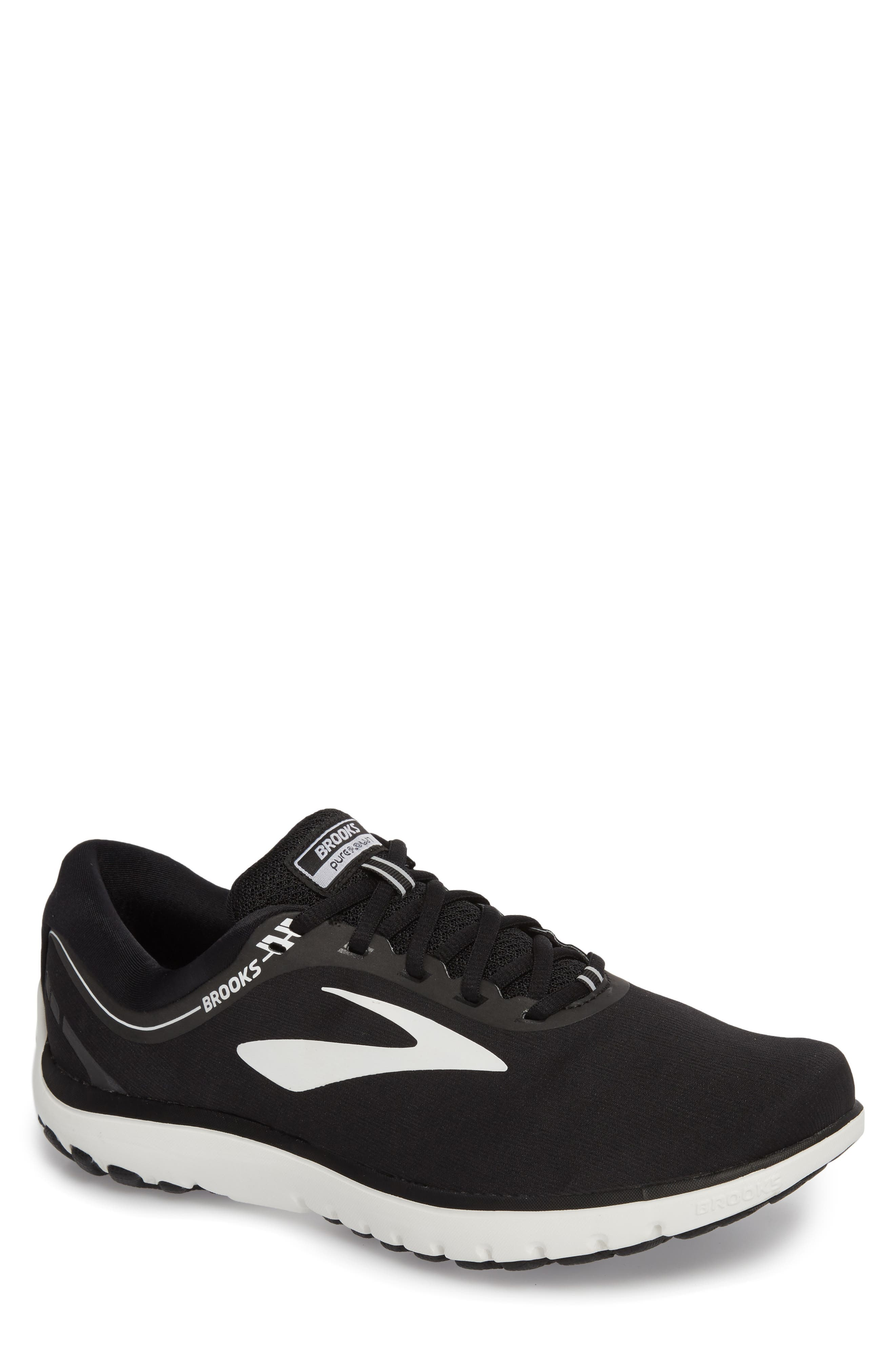 PureFlow 7 Running Shoe,                             Main thumbnail 1, color,                             Black/ White