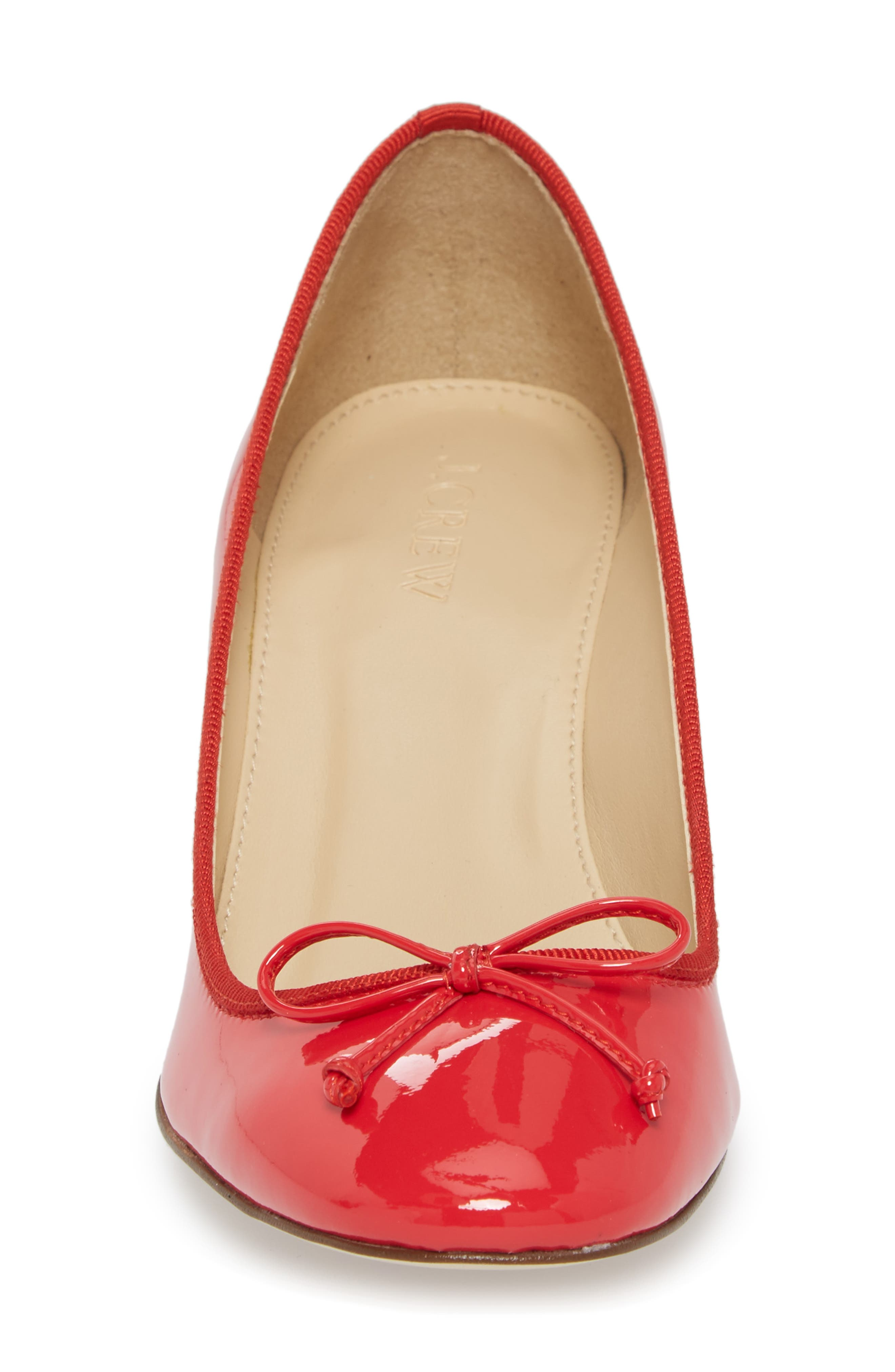 Leonard Pump,                             Alternate thumbnail 4, color,                             Red Leather