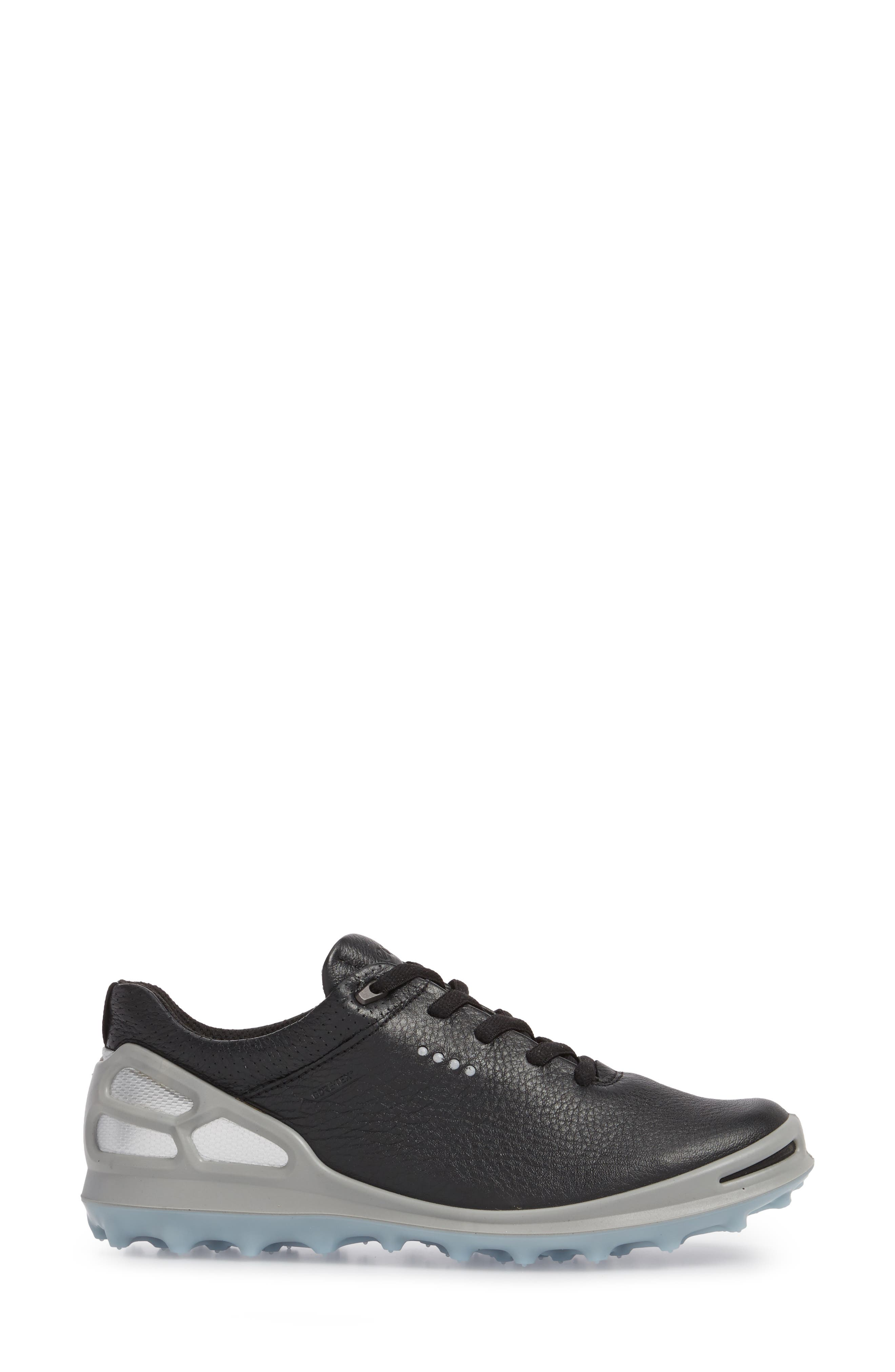 Golf Cage Pro Gore-Tex<sup>®</sup> Waterproof Shoe,                             Alternate thumbnail 3, color,                             Black Leather