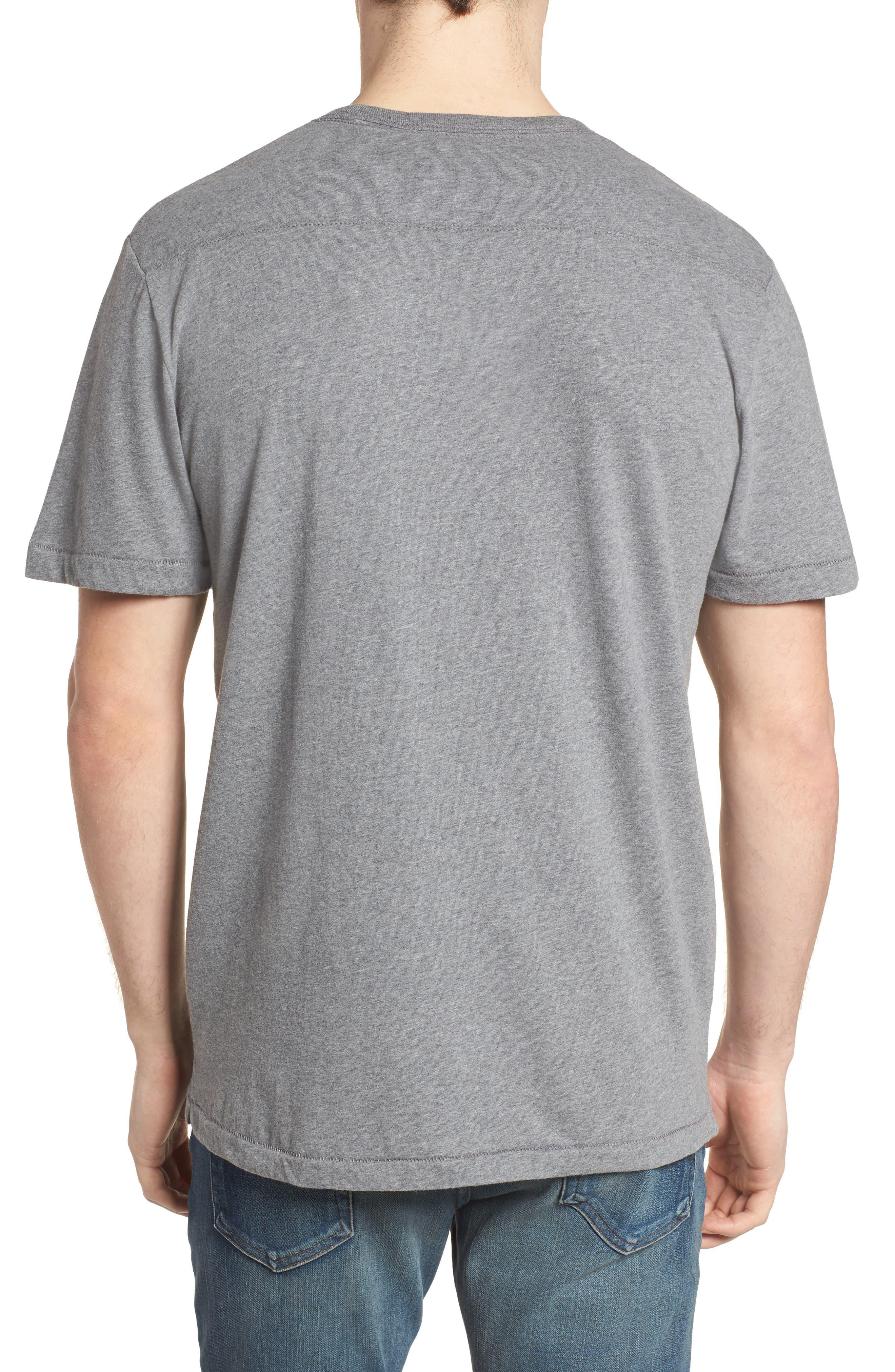 Solidarity Slim Fit Crewneck T-Shirt,                             Alternate thumbnail 2, color,                             Mid Grey Melange/ Black