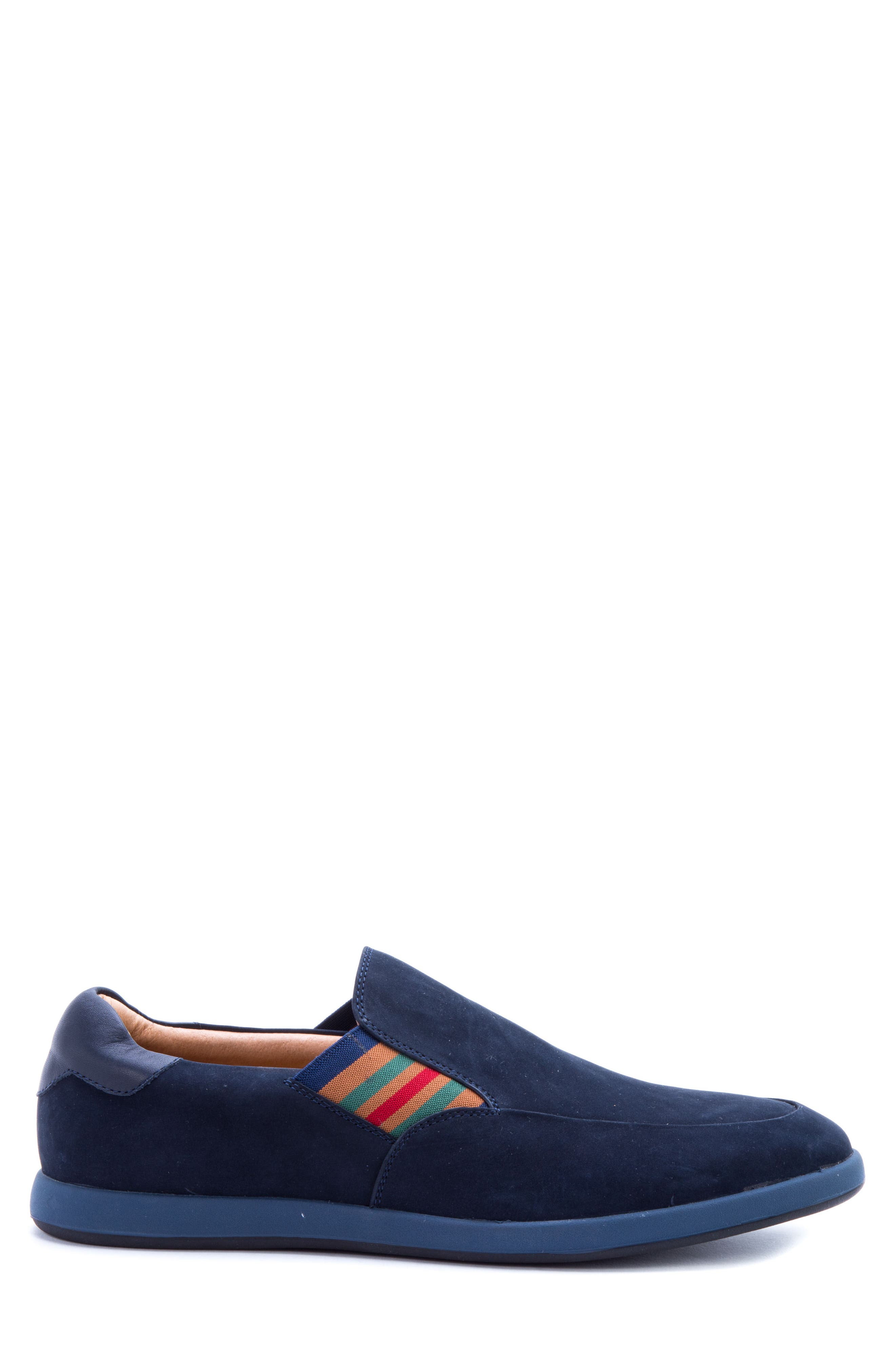Avenida Striped Slip-On,                             Alternate thumbnail 3, color,                             Navy Suede