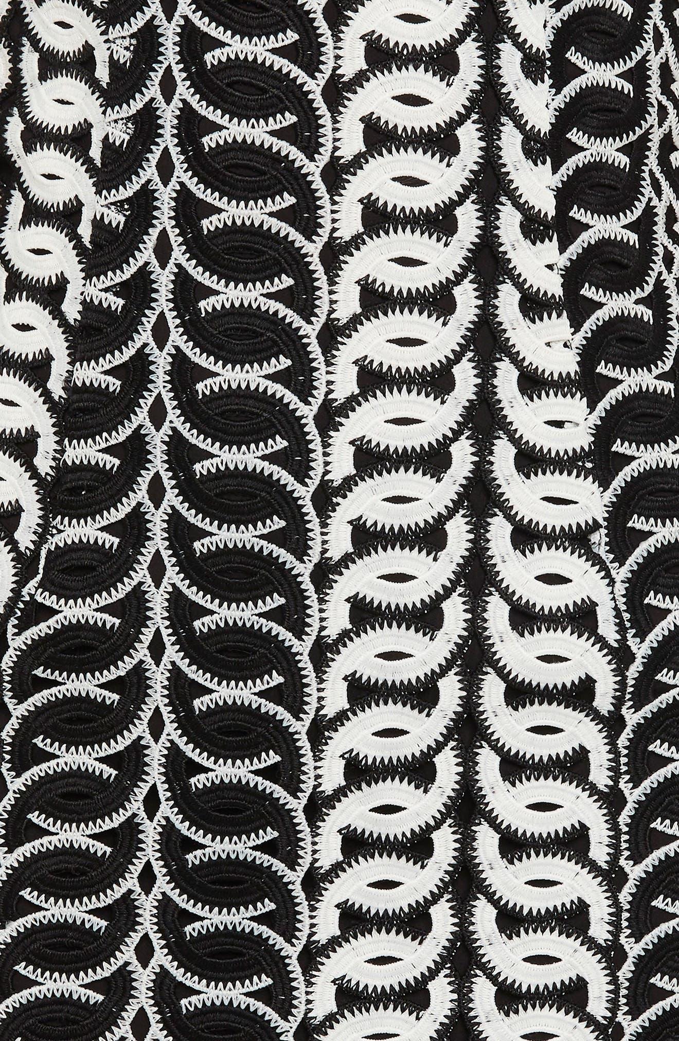 Germaine Lace Dress,                             Alternate thumbnail 4, color,                             Multi-Blk