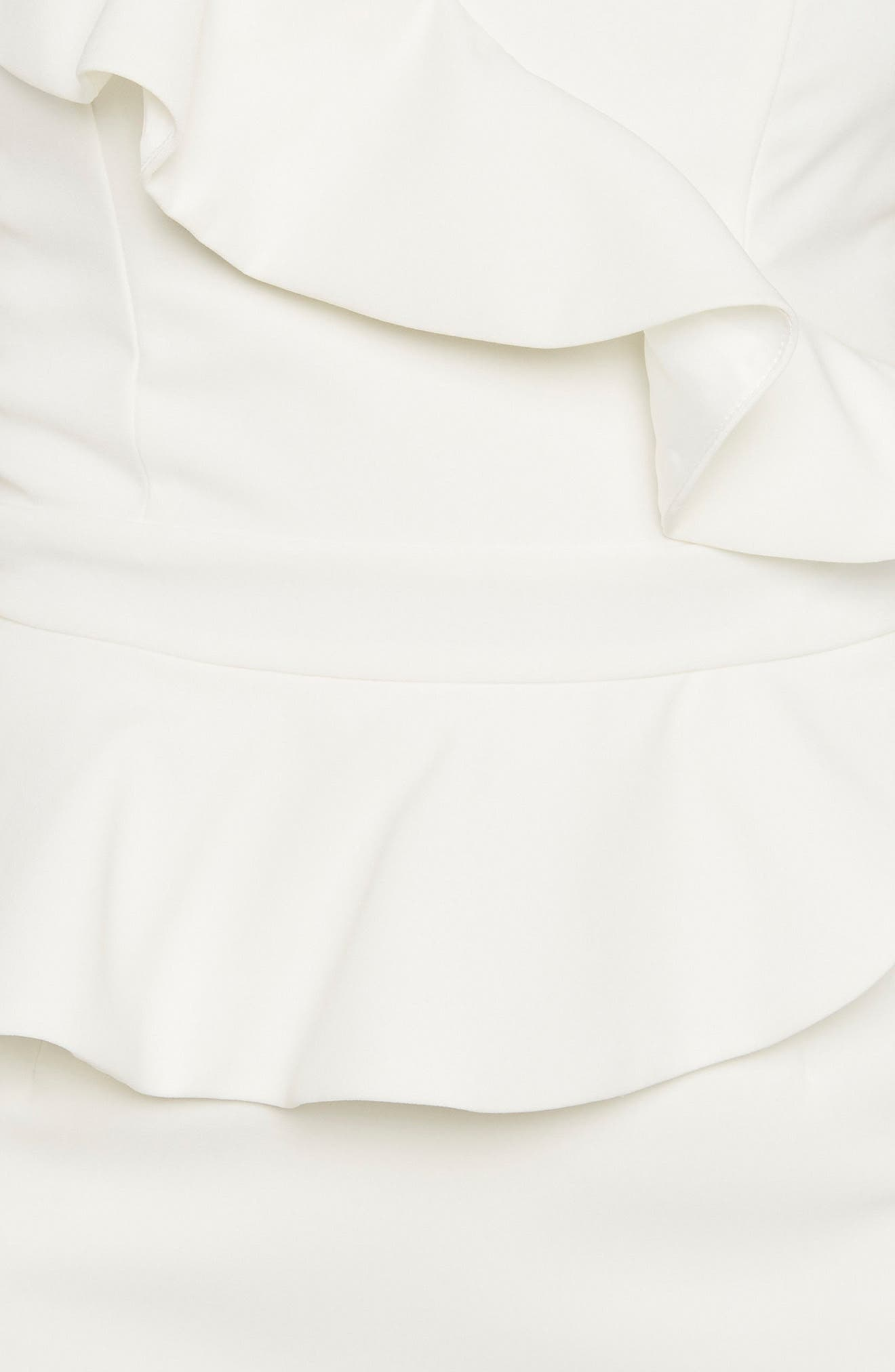 Camellia One-Shoulder Sheath Dress,                             Alternate thumbnail 4, color,                             Ivory