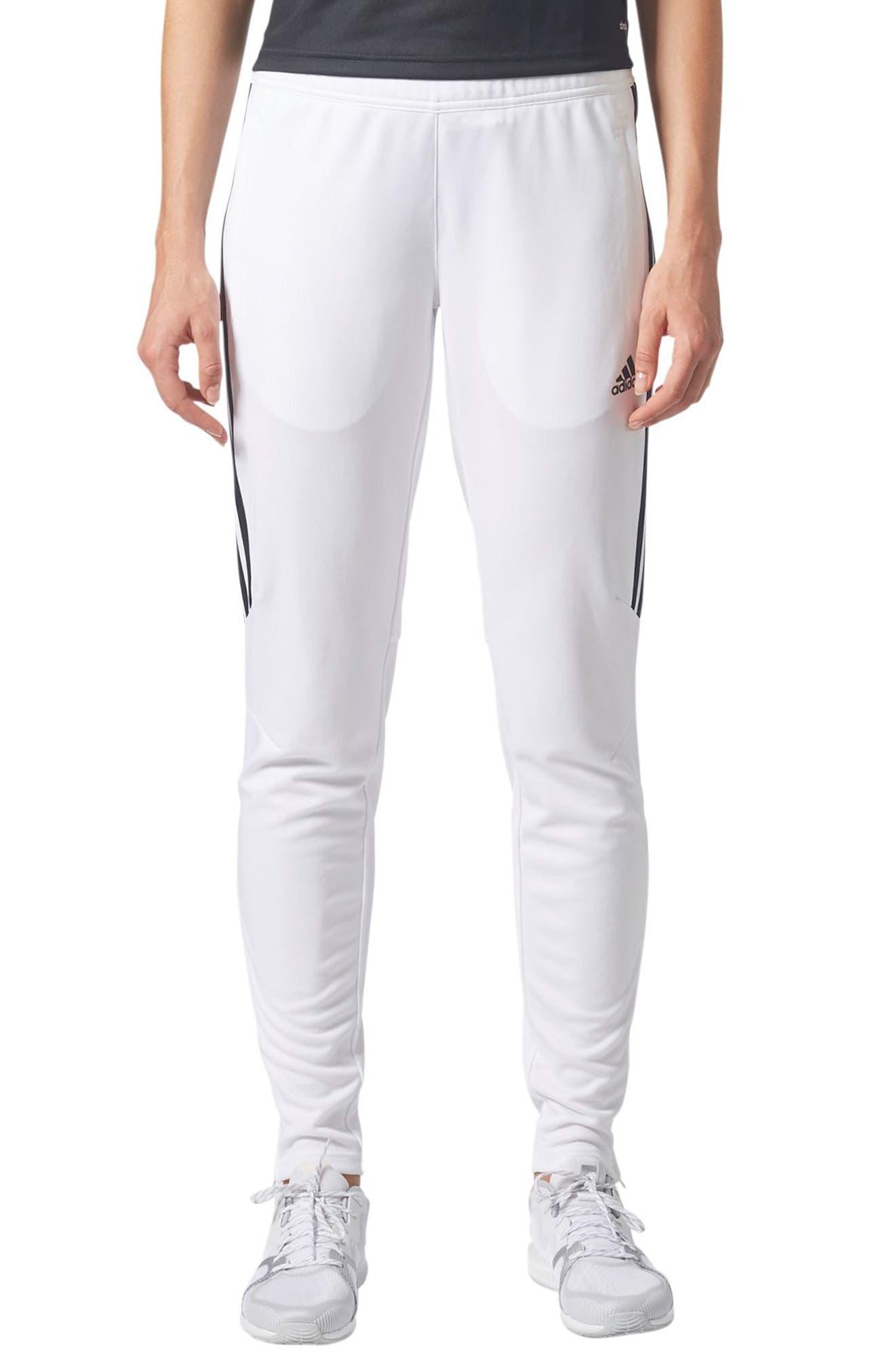 best service 1e8a0 2eef4 Adidas Tiro Climacool Soccer Pants, White/Black