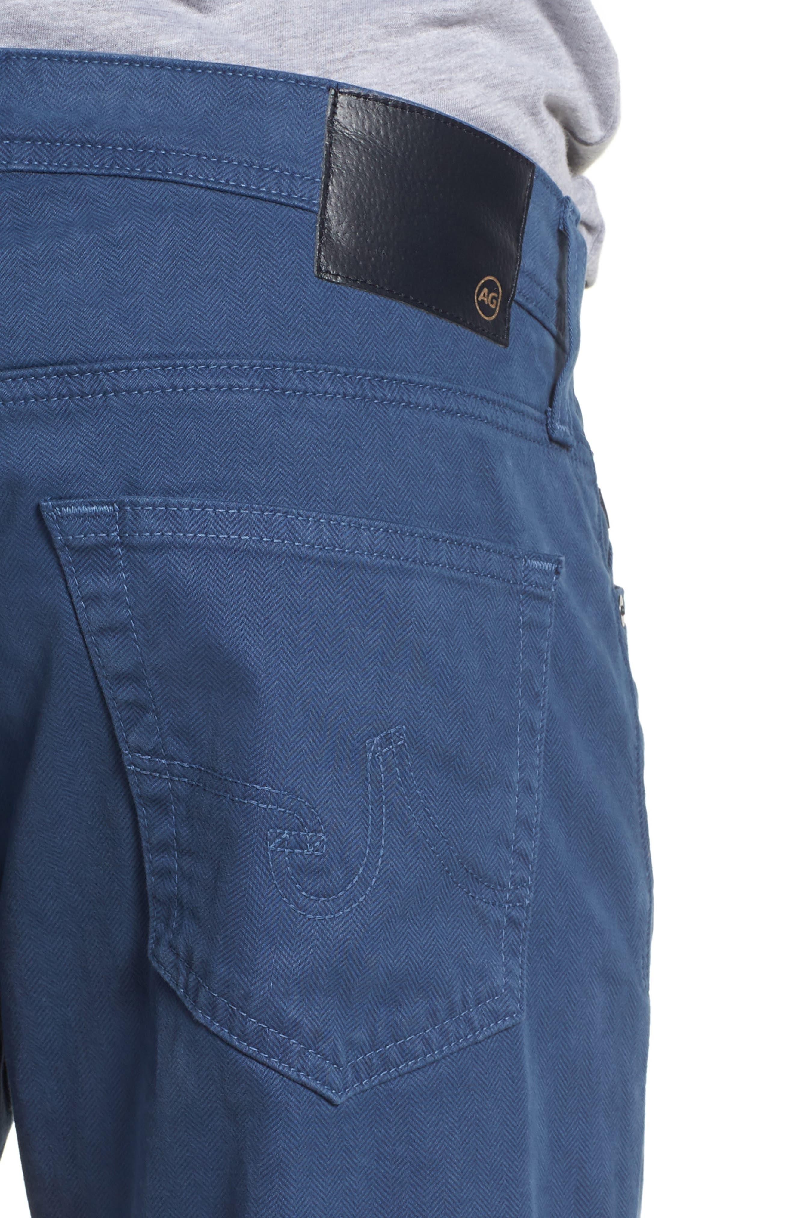 Alternate Image 4  - AG Herringbone Everett SUD Straight Leg Pants