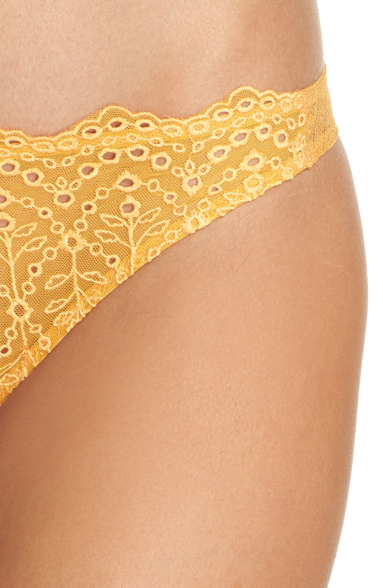 Intimately FP St. Tropez Tanga Panties,                             Alternate thumbnail 8, color,                             Yellow