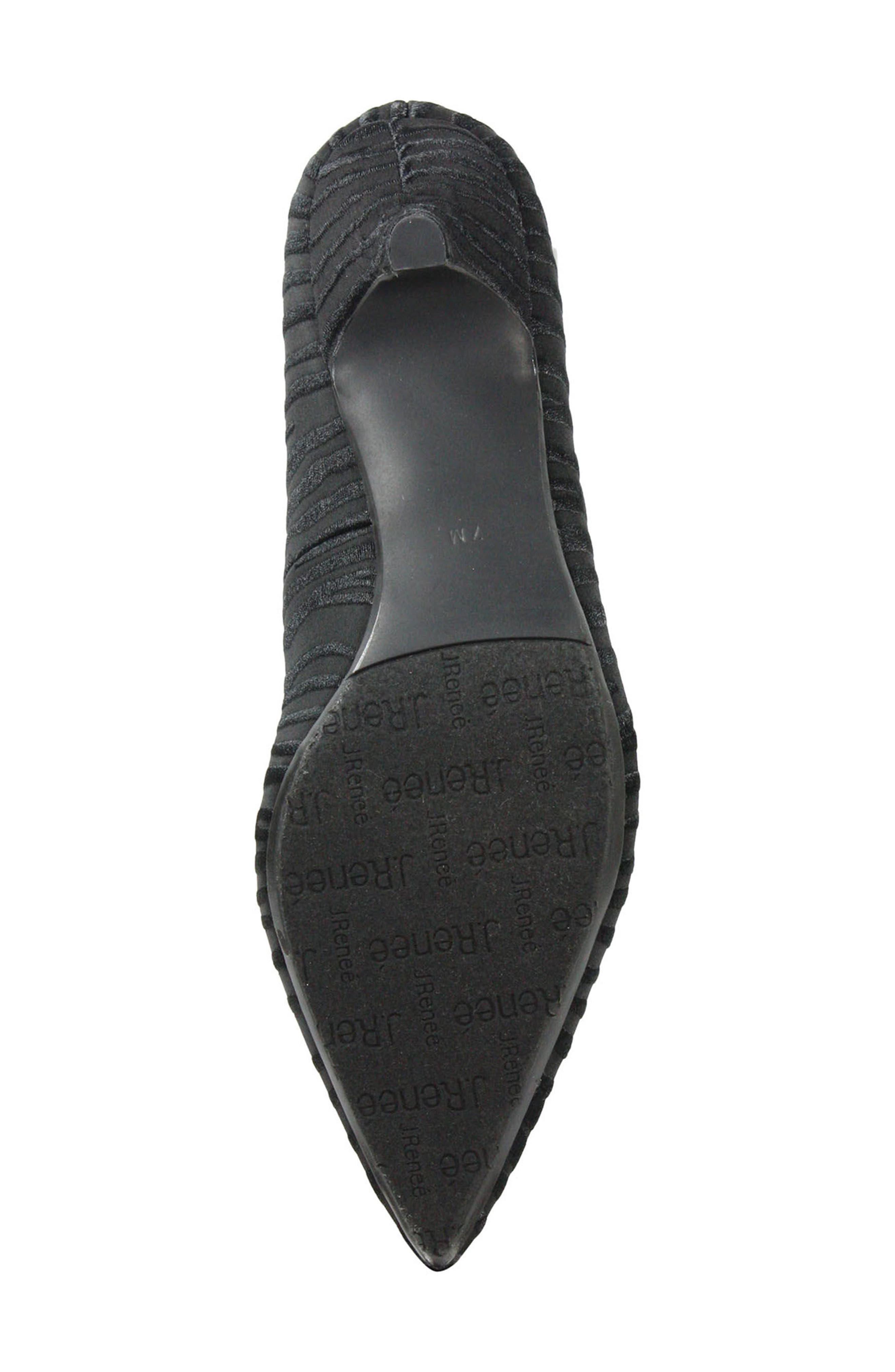 Zelaina Pump,                             Alternate thumbnail 6, color,                             Black/ Black Fabric