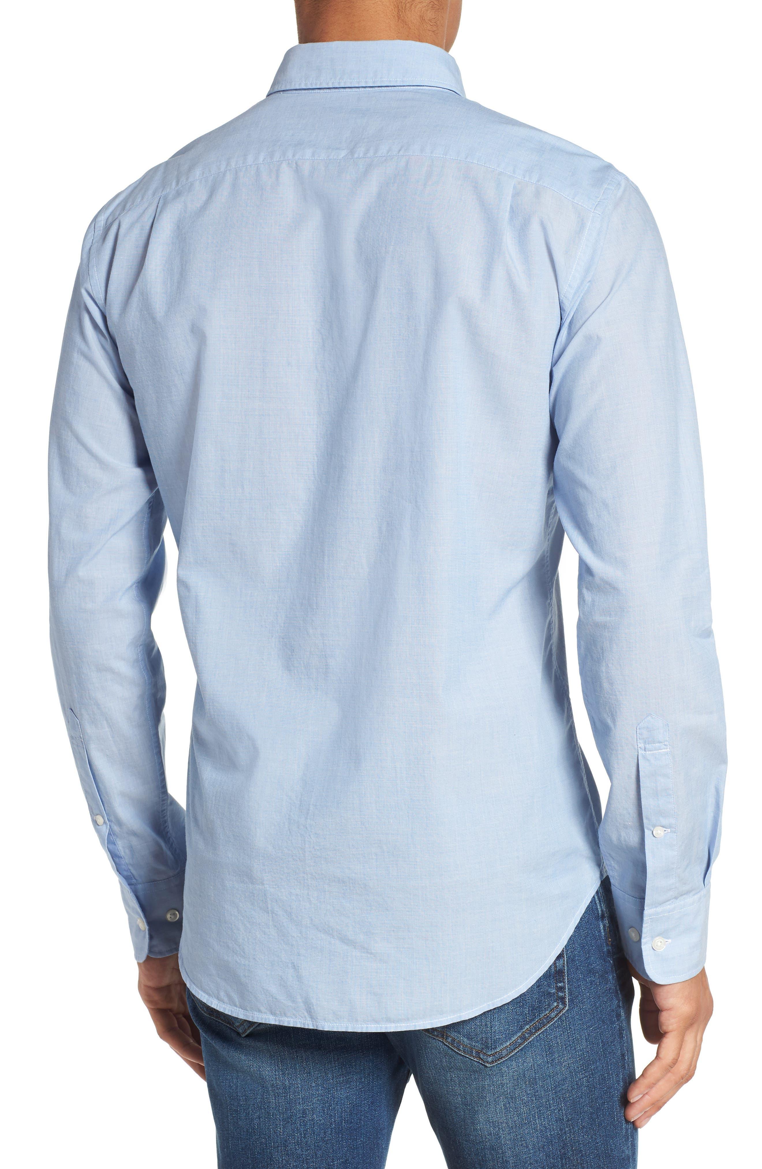 Summerweight Slim Fit Sport Shirt,                             Alternate thumbnail 3, color,                             Rip Curl