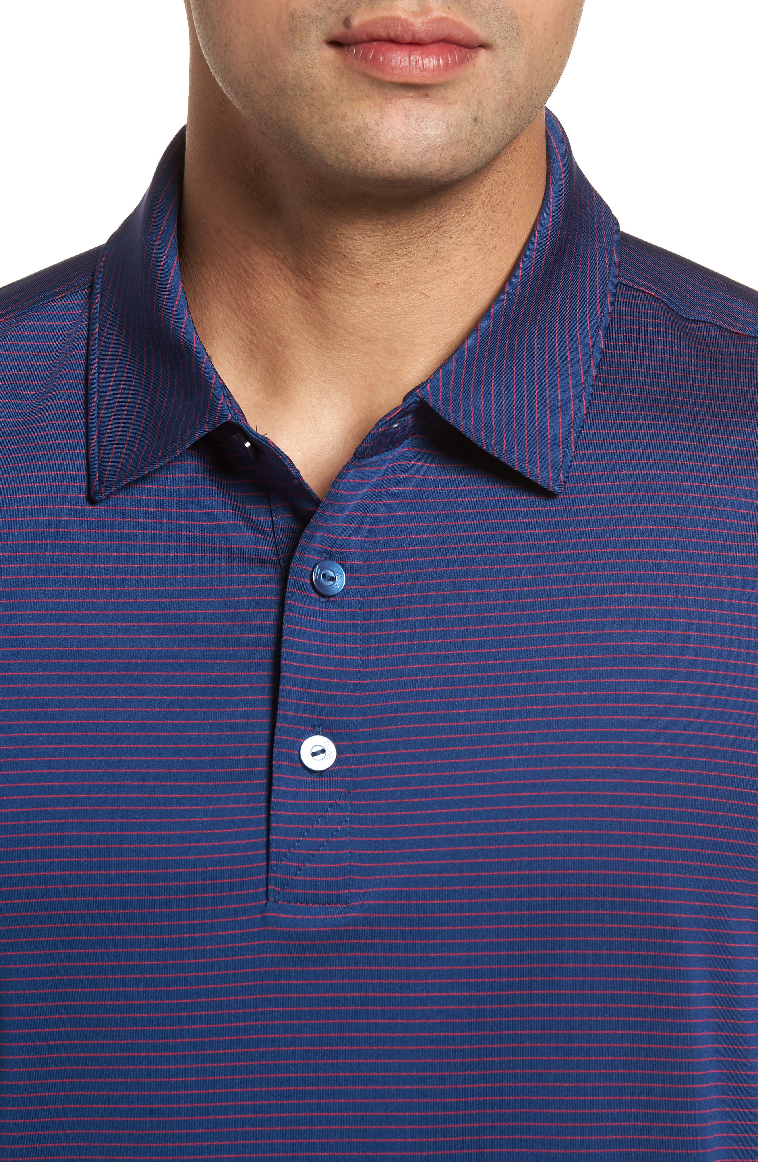 Heather DryTec Moisture Wicking Polo,                             Alternate thumbnail 4, color,                             Clarity