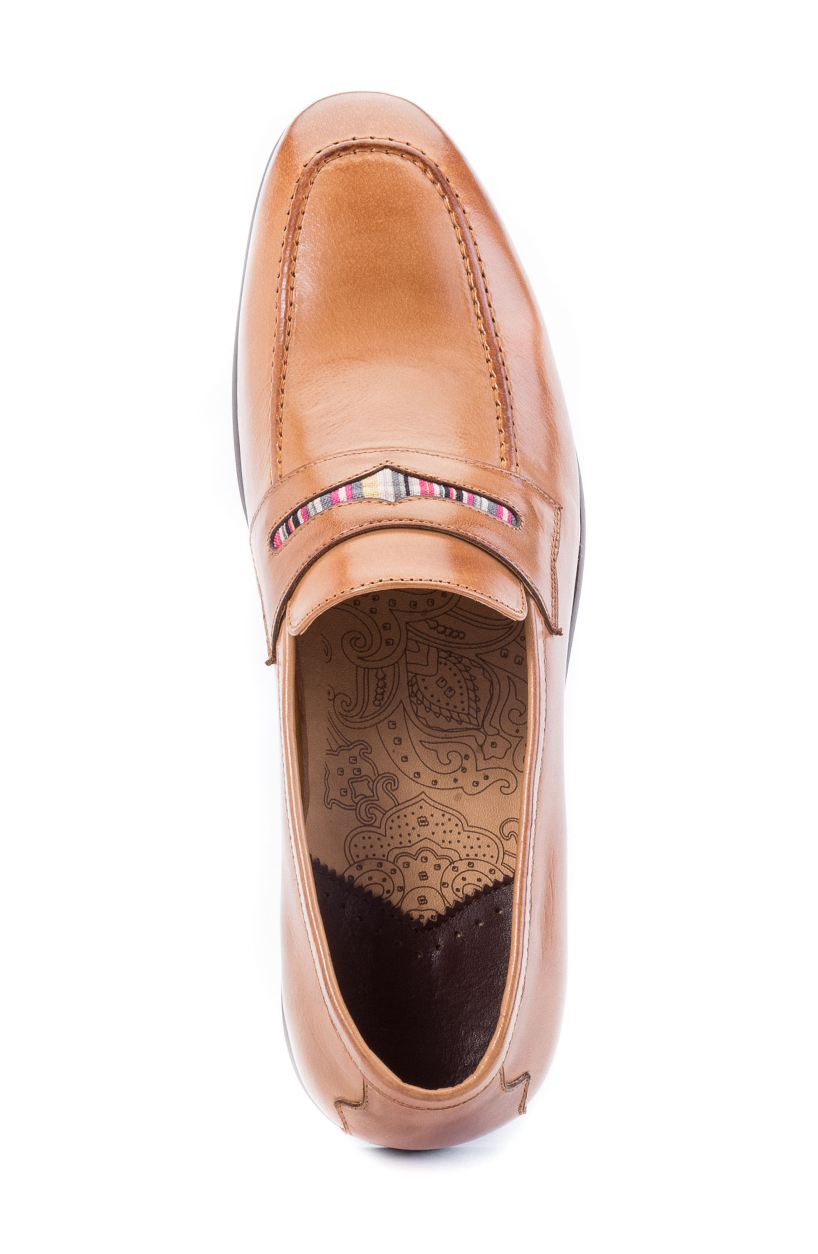 Hugo Penny Loafer,                             Alternate thumbnail 5, color,                             Cognac Leather
