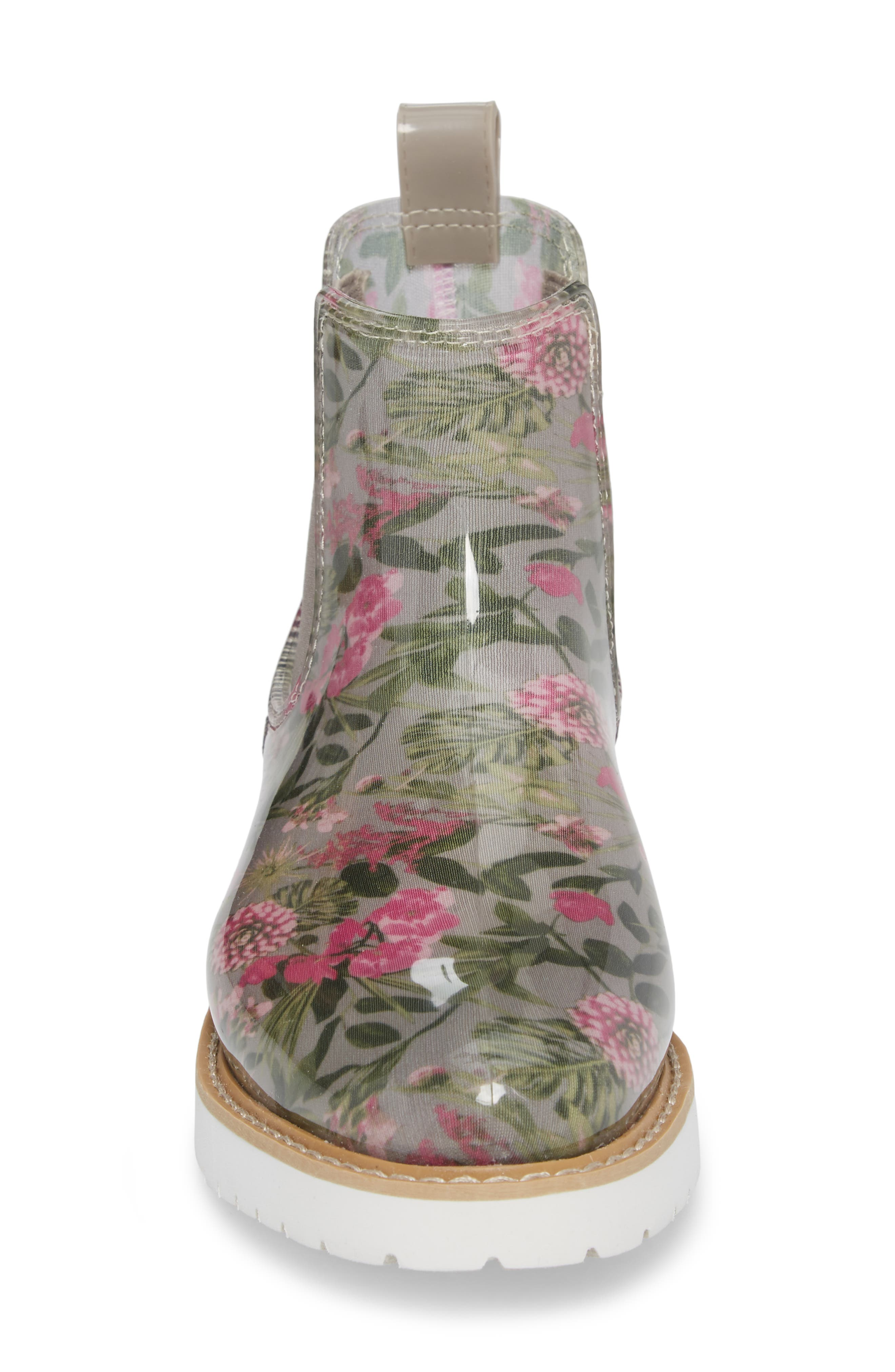 Kensington Chelsea Rain Boot,                             Alternate thumbnail 4, color,                             Tropical Floral