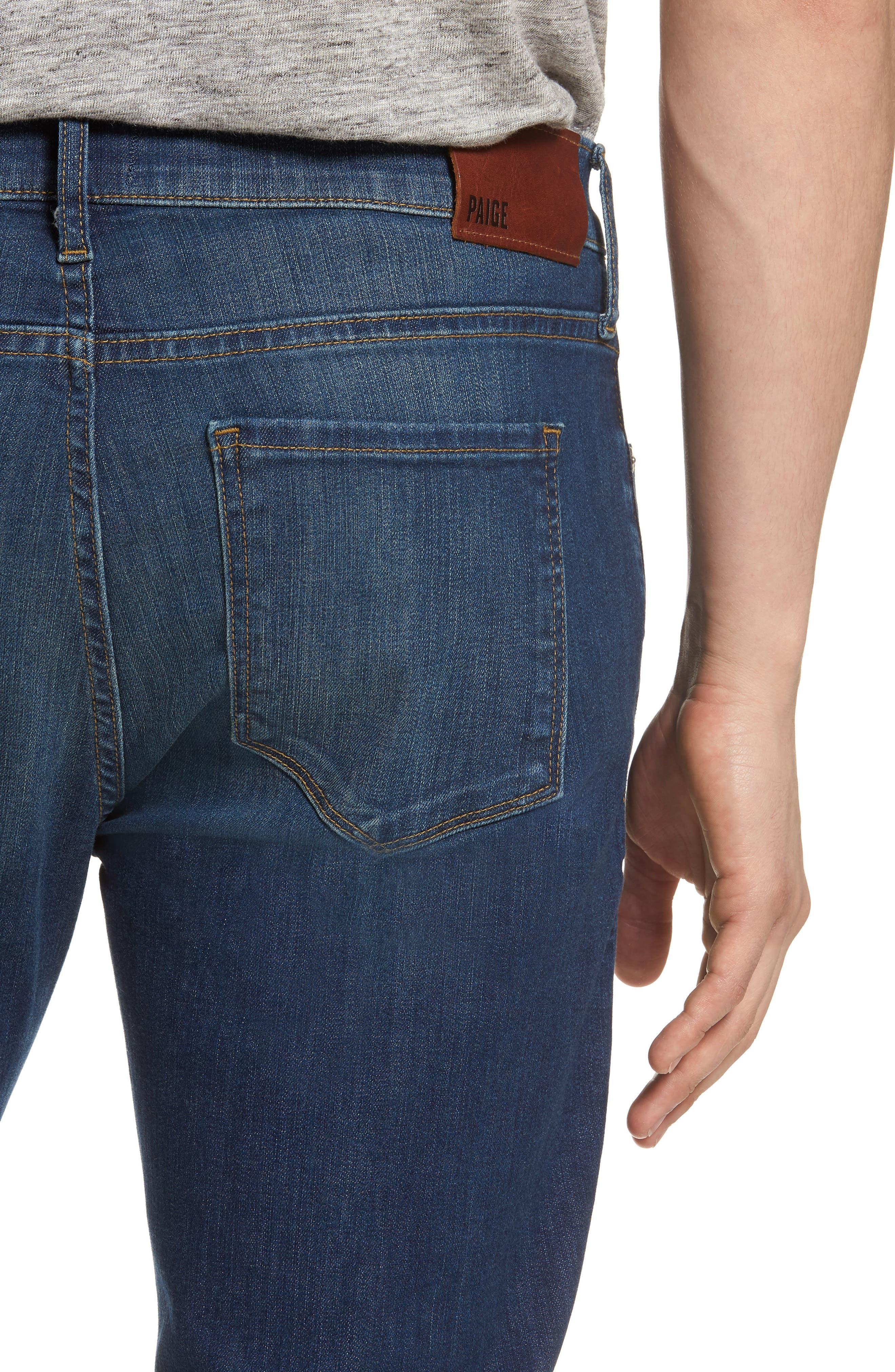 Lennox Slim Fit Jeans,                             Alternate thumbnail 4, color,                             Harlan Destructed
