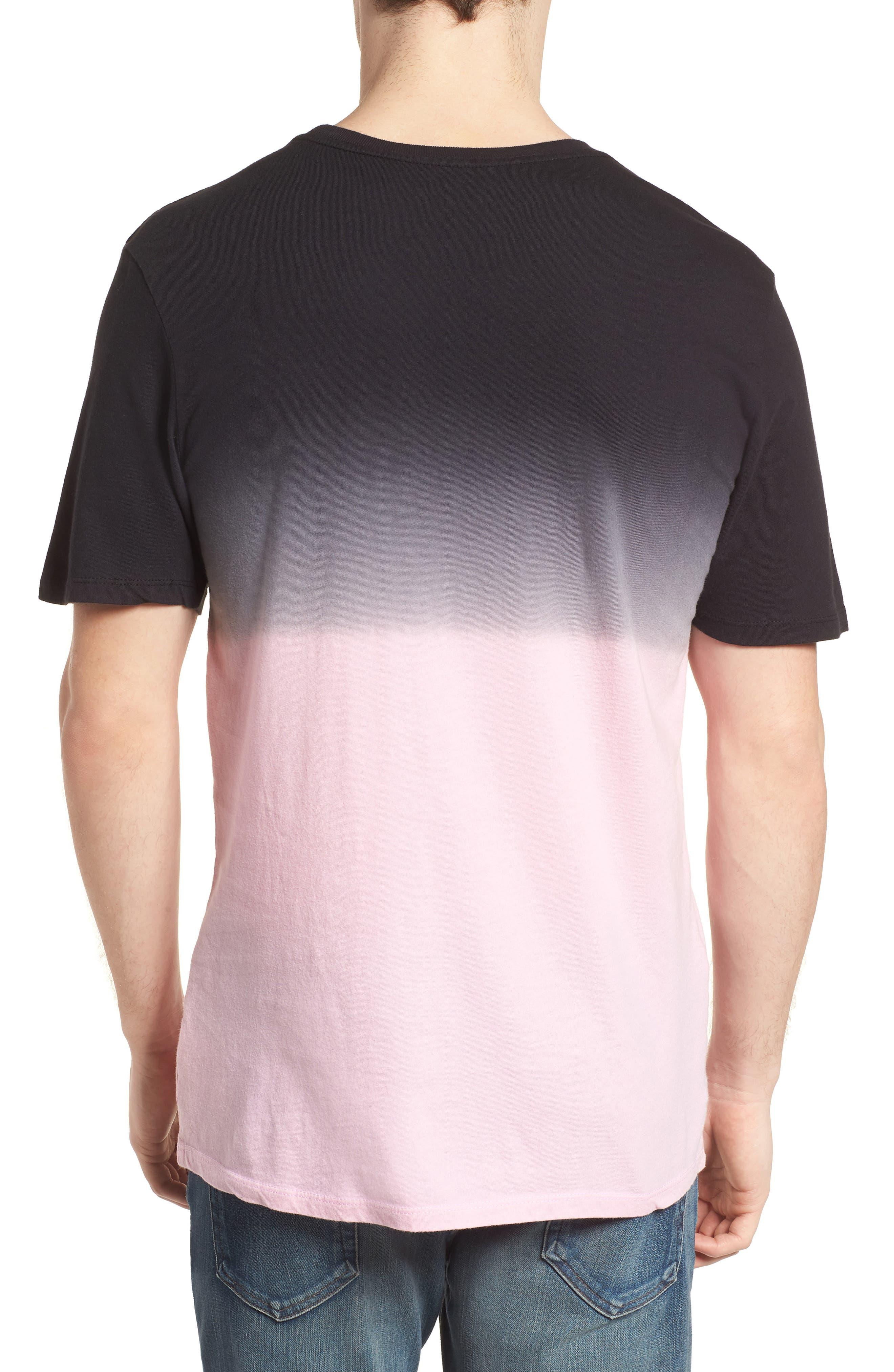 Trajectory Dip Dye T-Shirt,                             Alternate thumbnail 2, color,                             Hyper Pink/Black