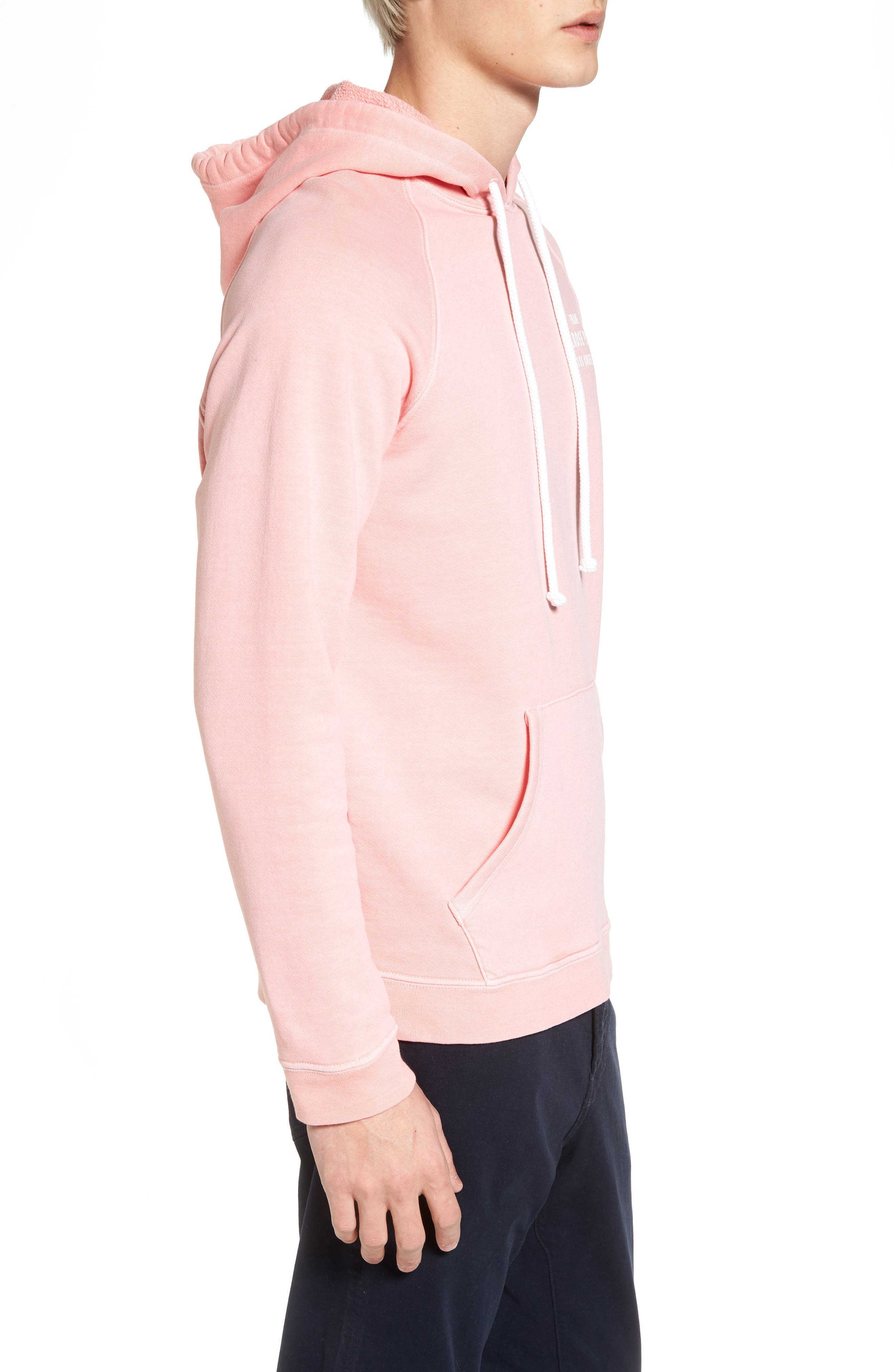 Vintage Pullover Hoodie,                             Alternate thumbnail 3, color,                             Faded Light Pink