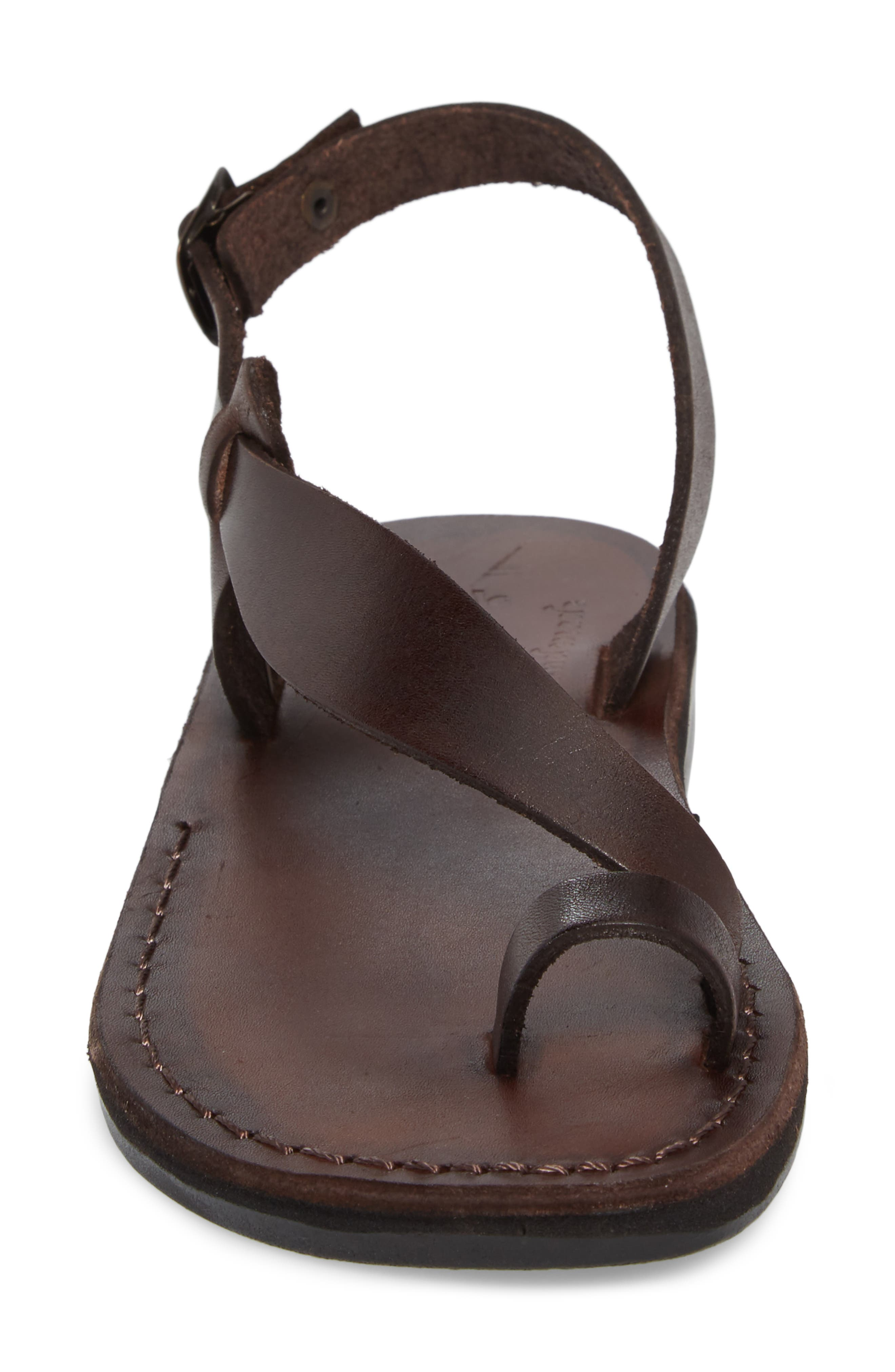 Mia Sandal,                             Alternate thumbnail 4, color,                             Brown Leather