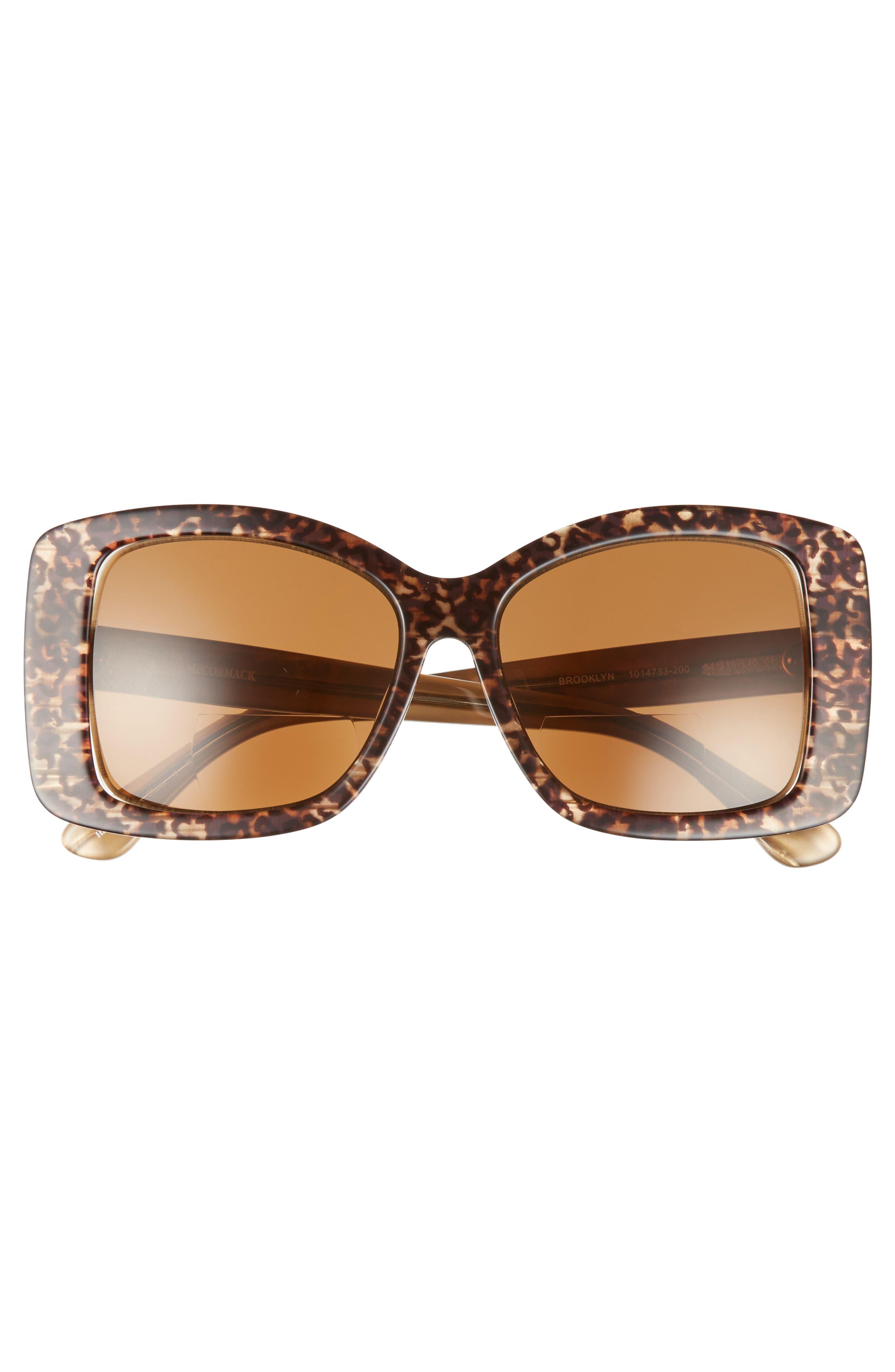 Brooklyn 54mm Reading Sunglasses,                             Alternate thumbnail 3, color,                             Brown