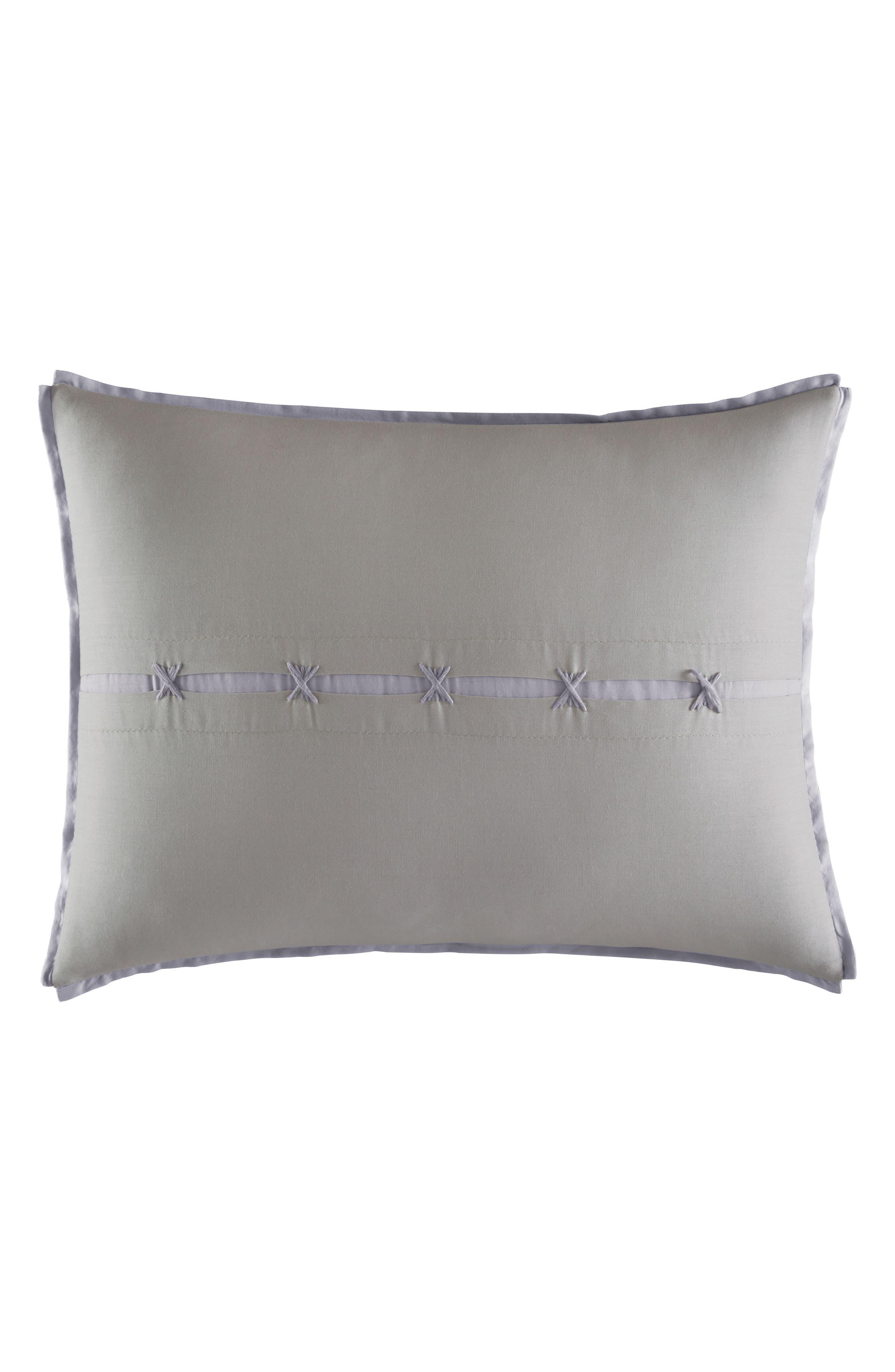 Transparent Leaves Accent Pillow,                         Main,                         color, Medium Gray