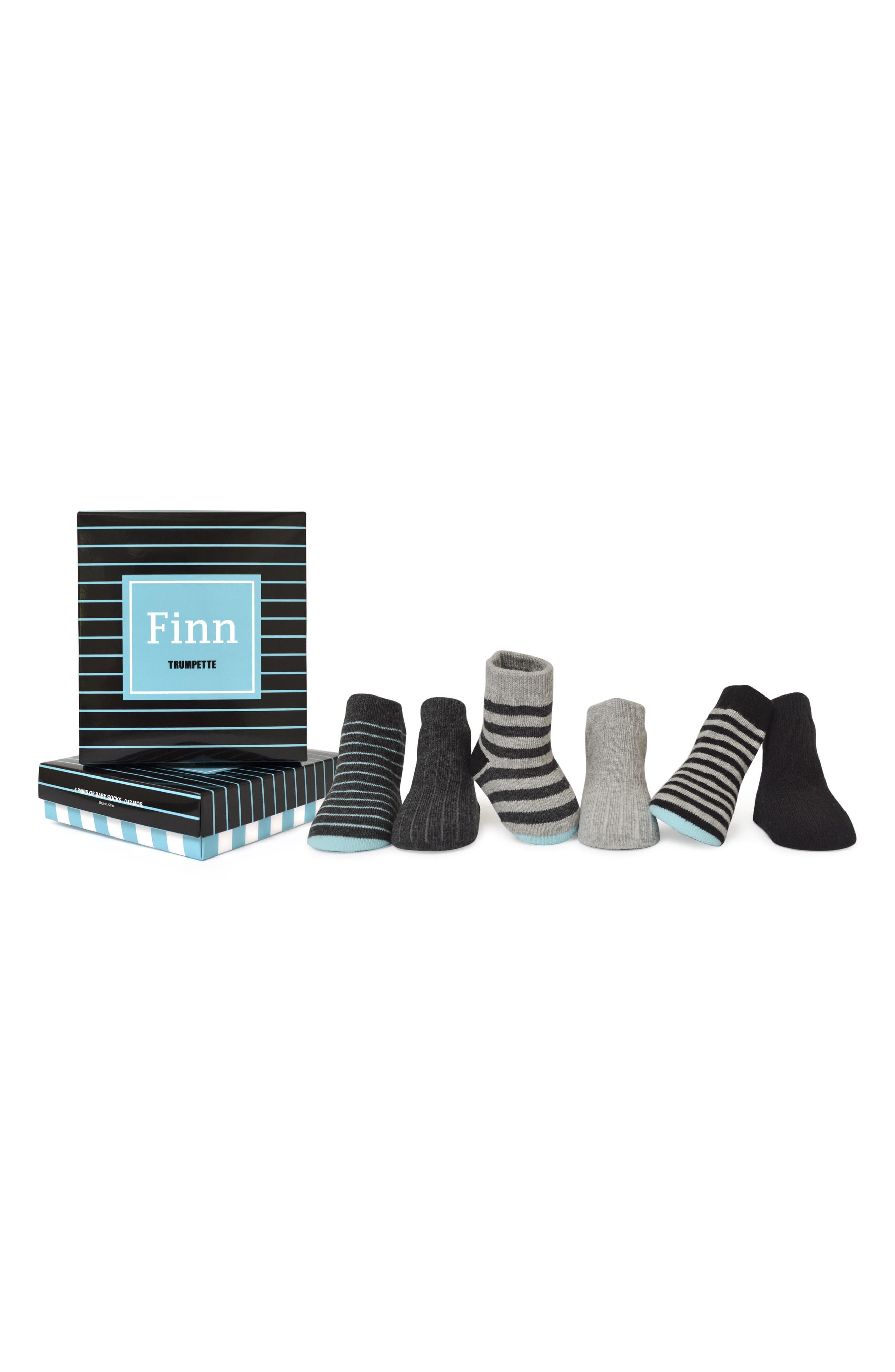 Finn 6-Pack Socks,                             Alternate thumbnail 3, color,                             Assorted