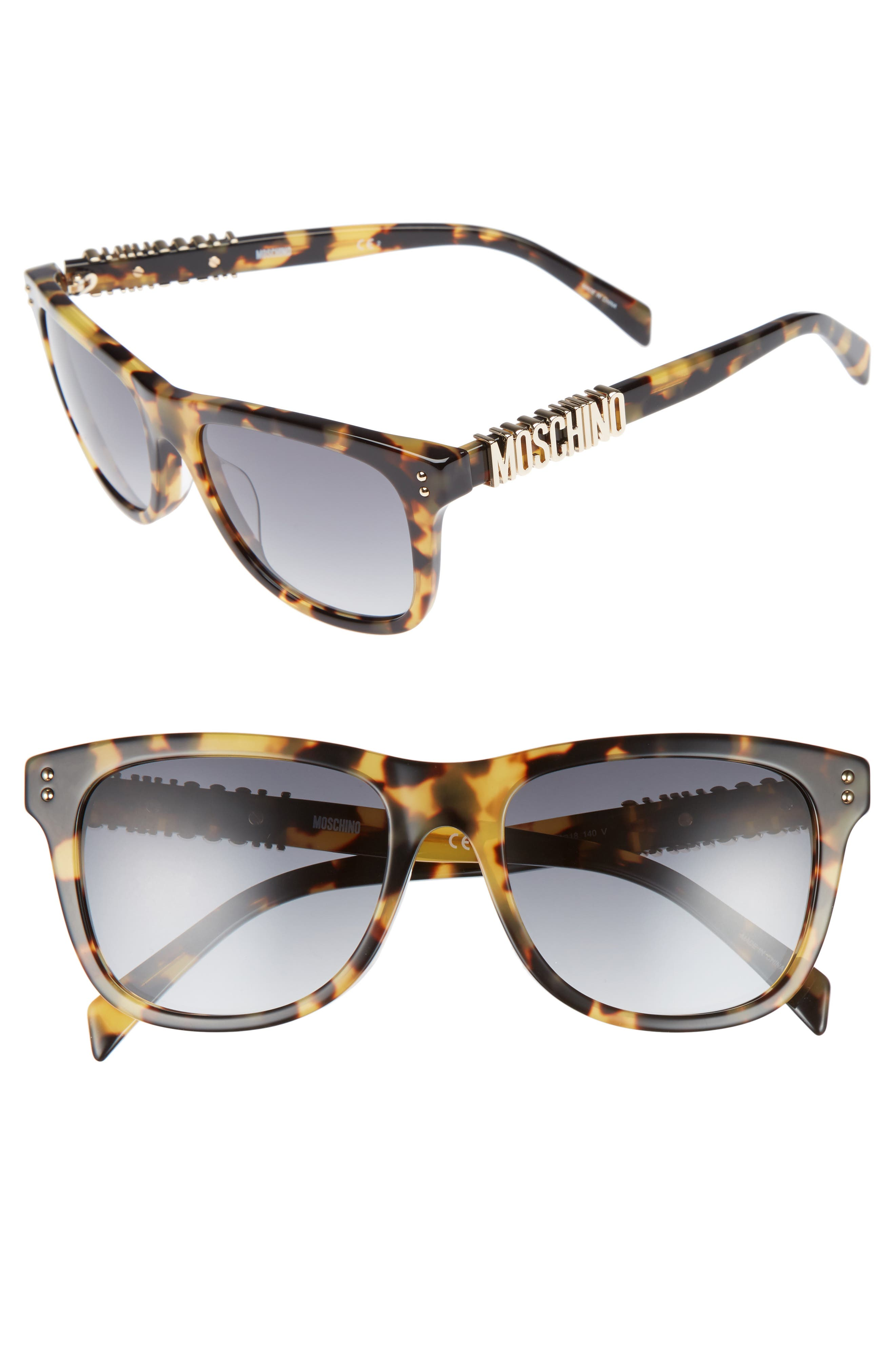 Moschino Basic 53mm Polarized Sunglasses