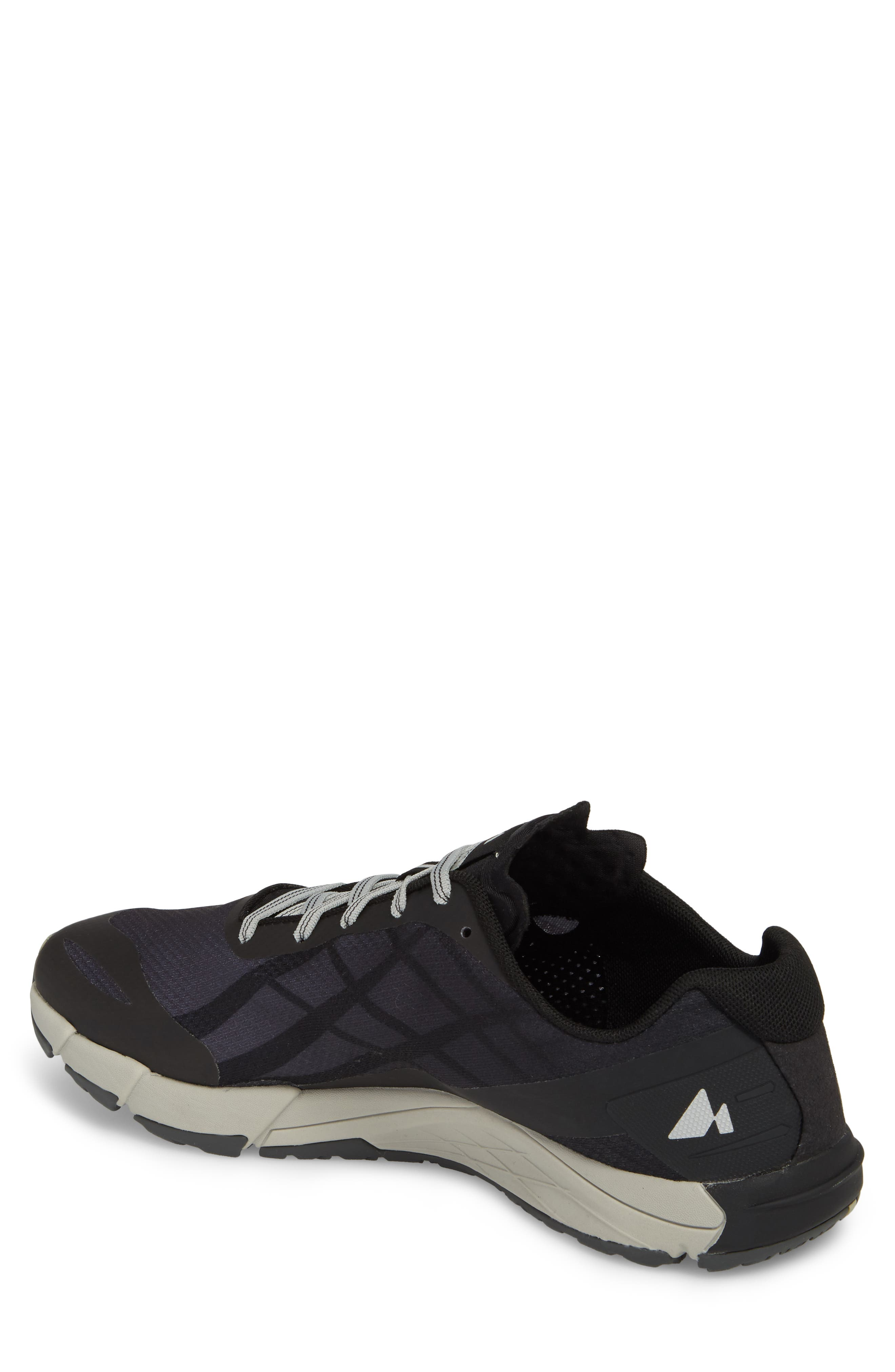 Bare Access Flex Running Shoe,                             Alternate thumbnail 2, color,                             Black/ Silver