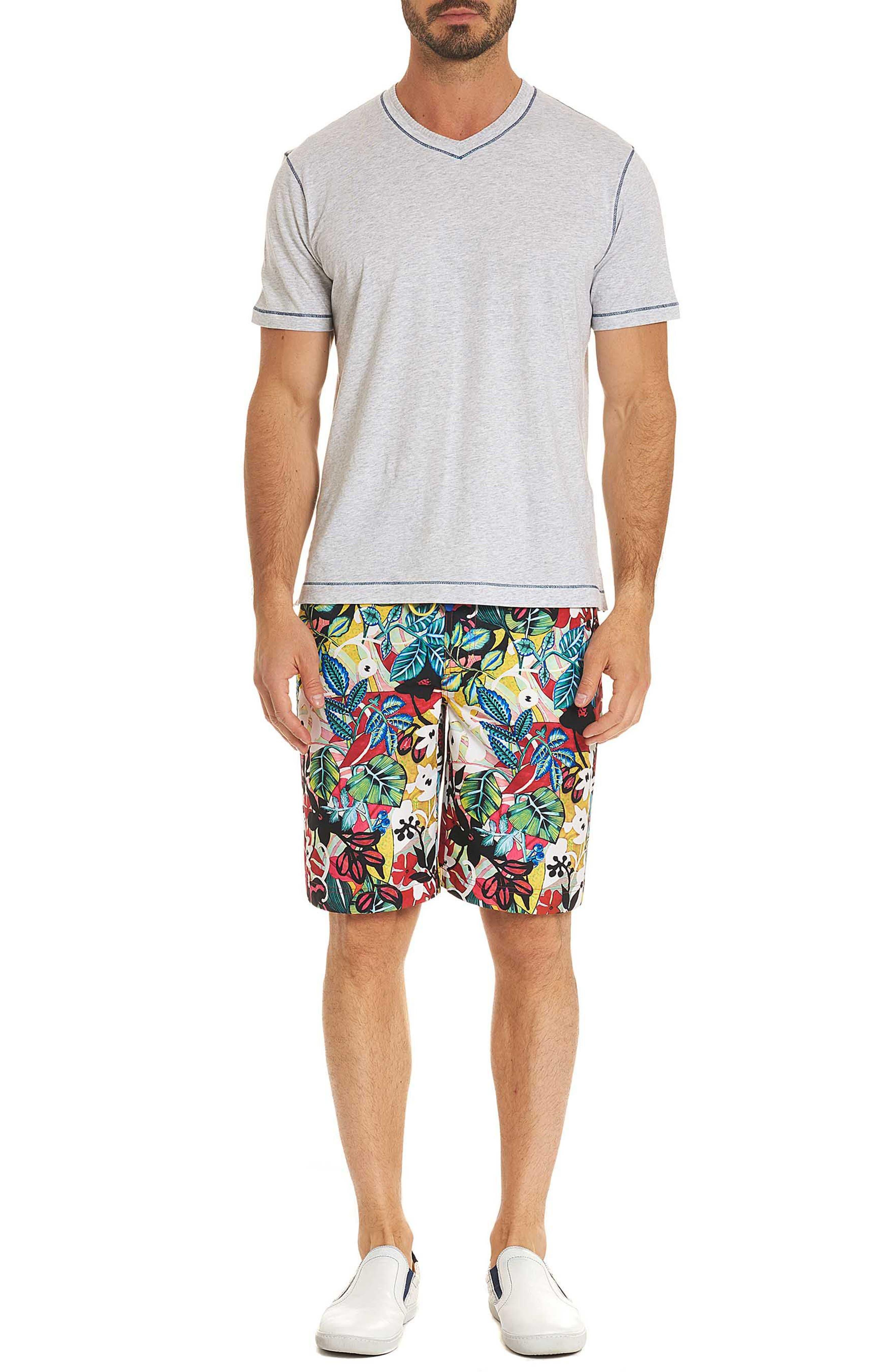 Barbarito Classic Fit Board Shorts,                             Alternate thumbnail 7, color,                             Multi