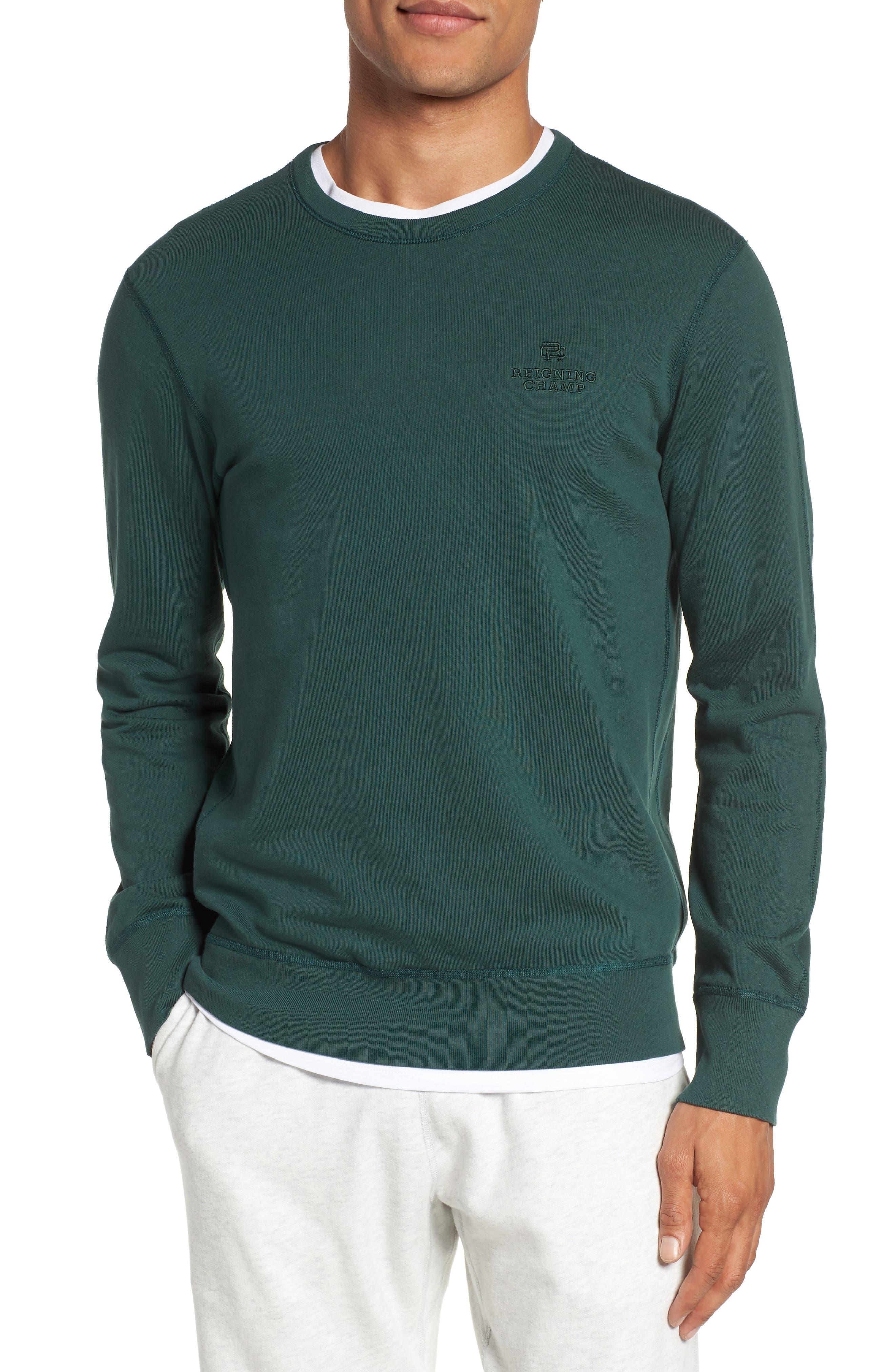 Reigning Champ Embroidered Logo Crewneck Sweatshirt