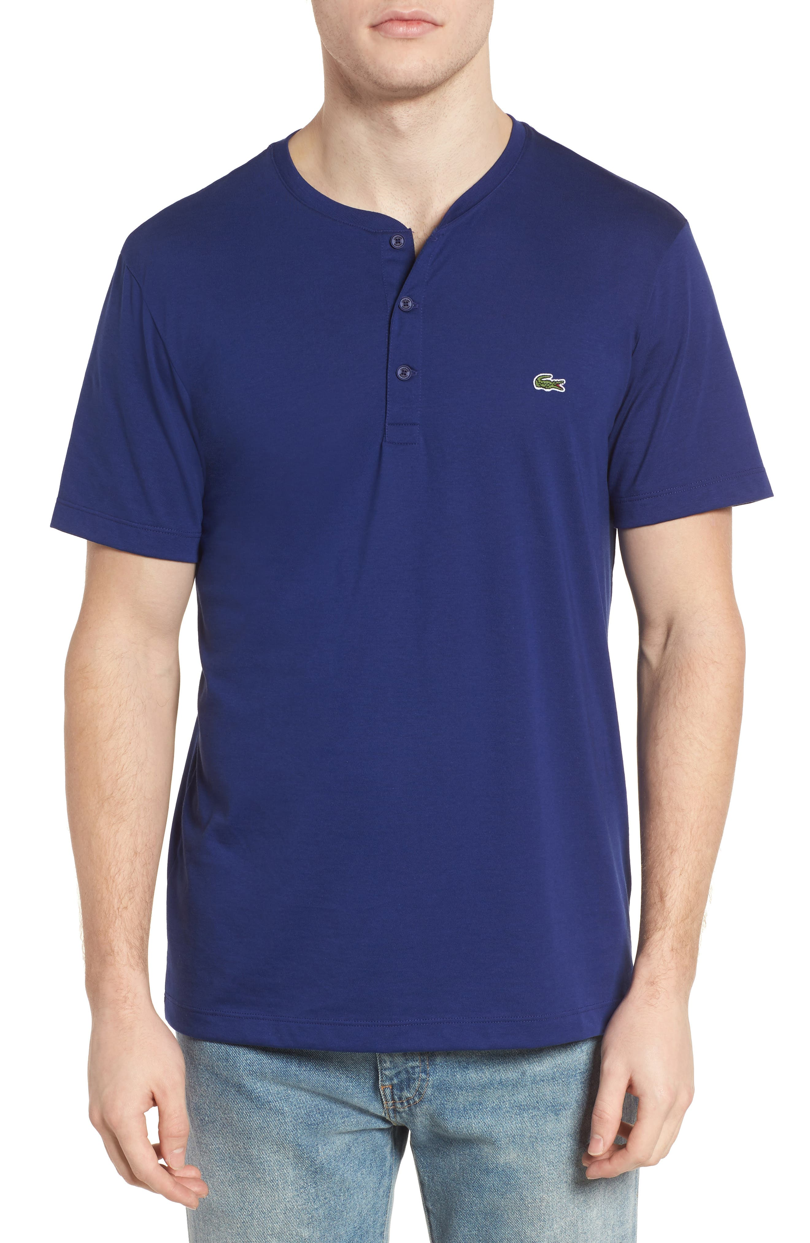 Lacoste Short Sleeve Cotton Henley