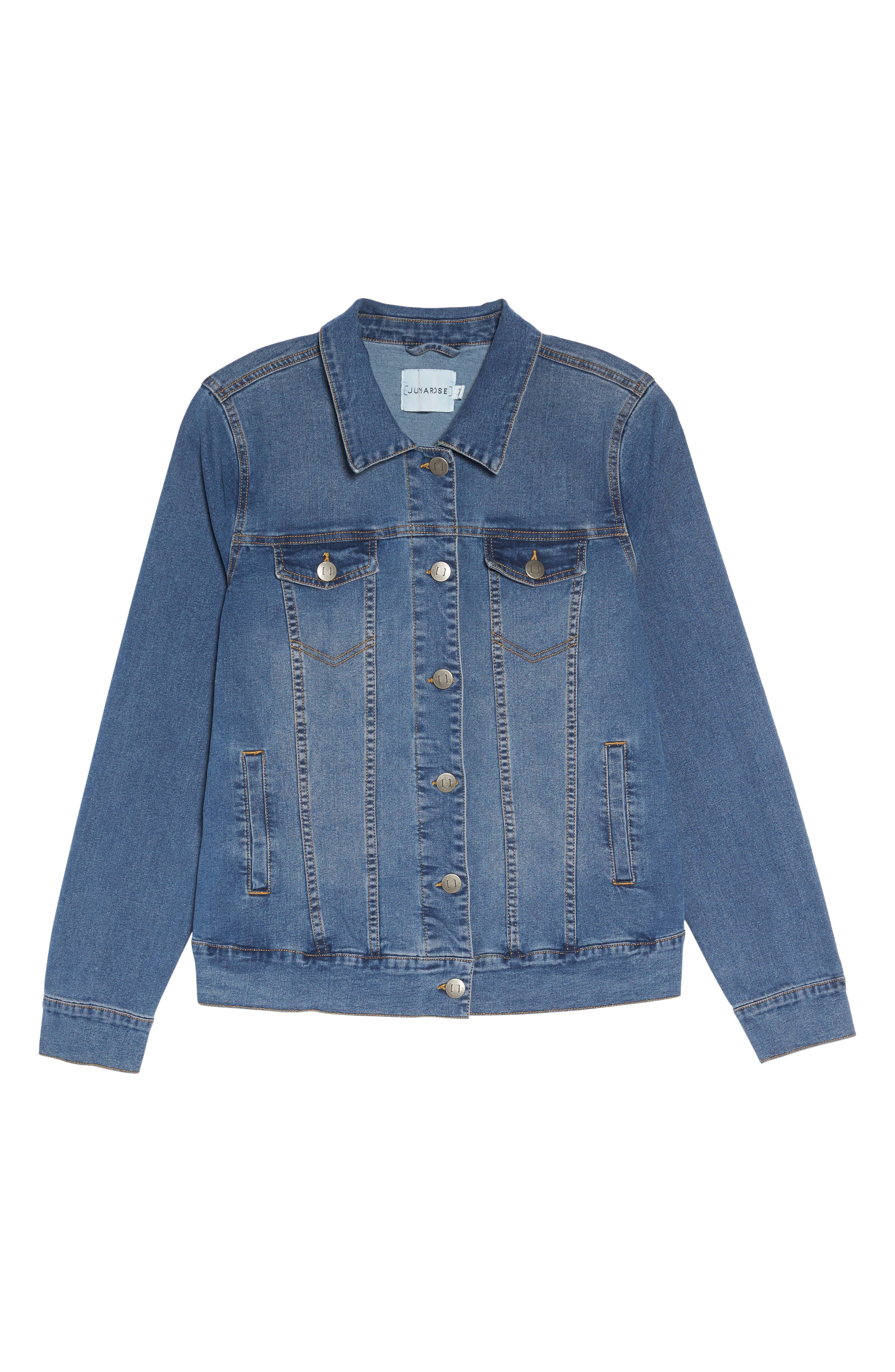 Alternate Image 6  - JUNAROSE Katla Denim Jacket (Plus Size)