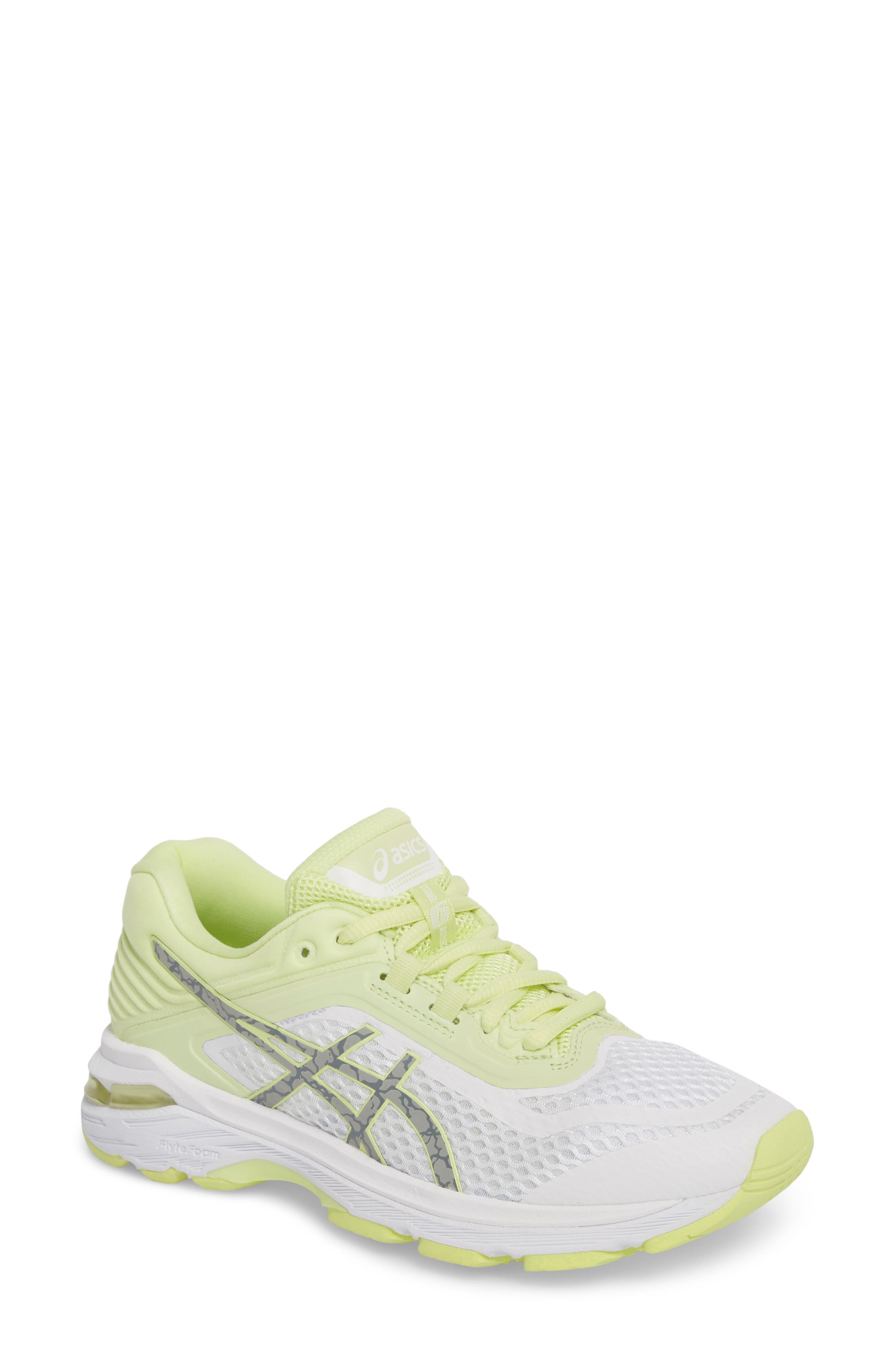 GT-2000 6 Running Shoe,                             Main thumbnail 1, color,                             White/ Silver/ Limelight